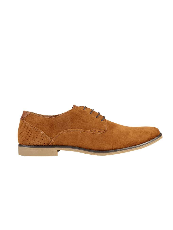 Burton. Men's Brown Tan Suede Look Desert Shoes