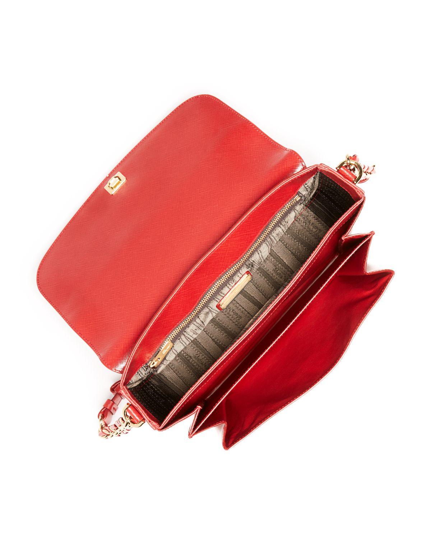 969e38c6c3 Lyst - Ferragamo Large Sandrine Shoulder Bag in Red