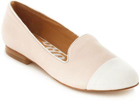 kelsi dagger freud flats in white pink white