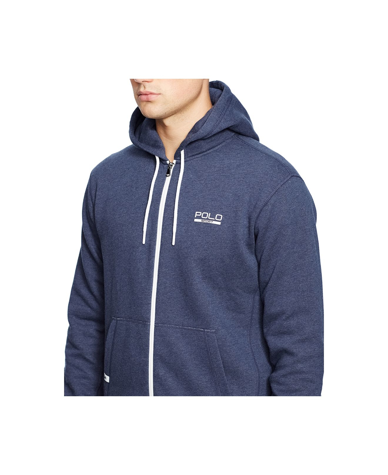 Polo zip up hoodie
