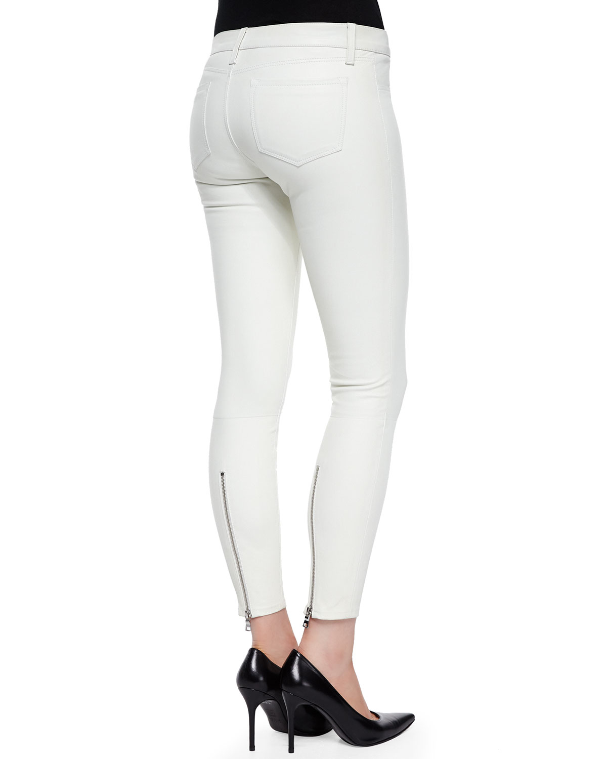 Perfect Faith Connexion Pythonembossed Paneled Leather Pants In White  Lyst