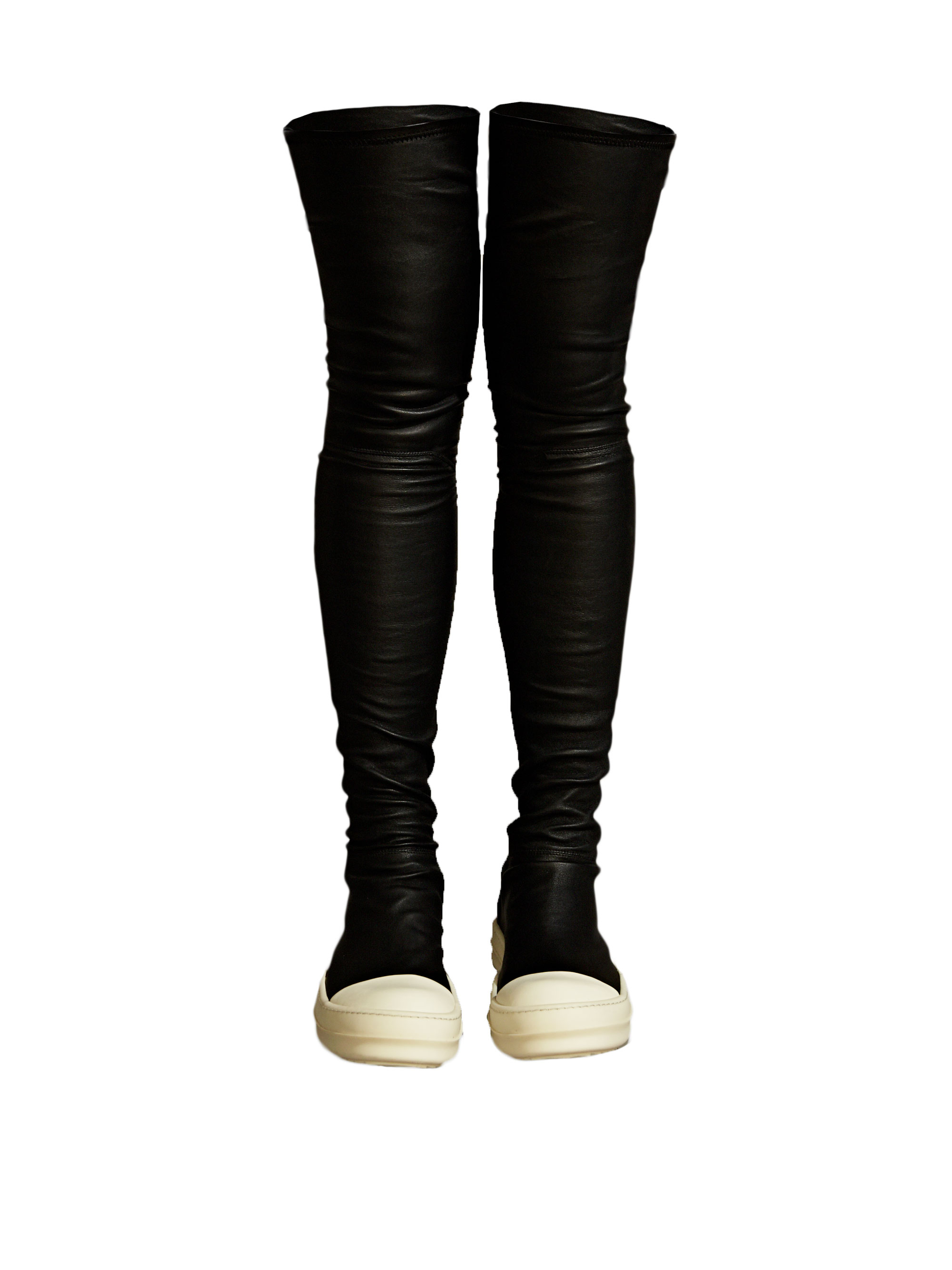 5bfa94554 Rick Owens Womens Thigh High Sneaker Boots in Black - Lyst