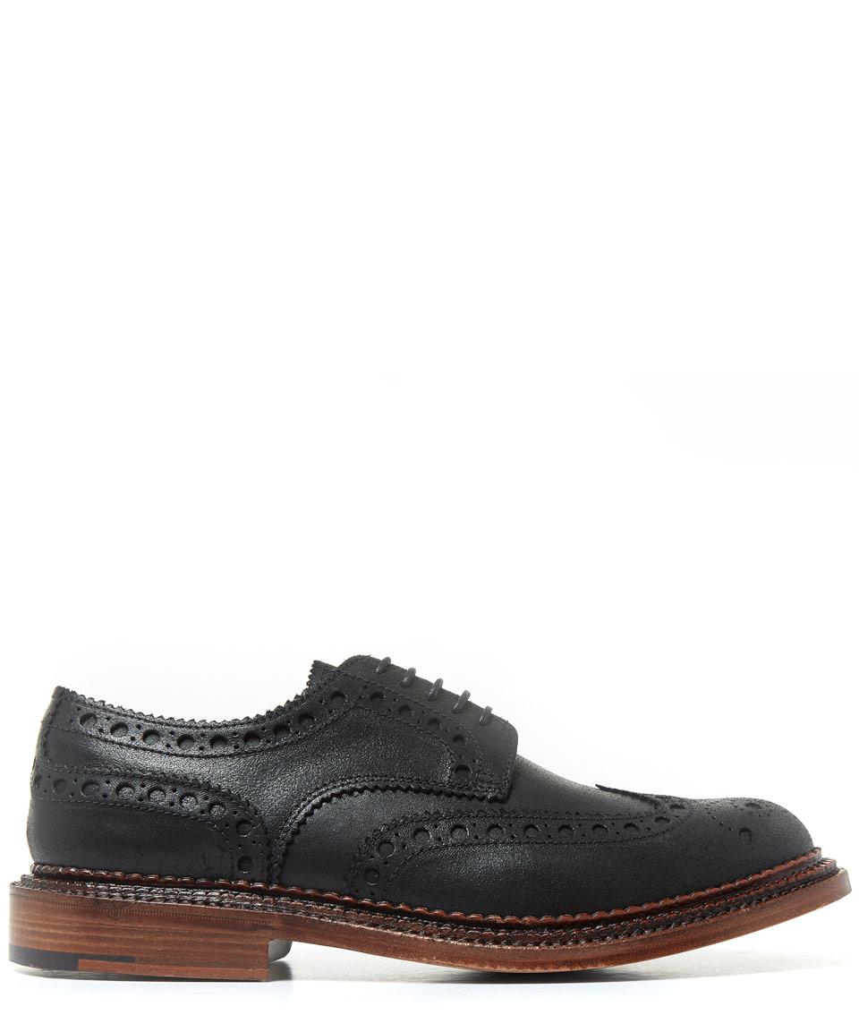 Grenson Tom Black Brogue Shoe