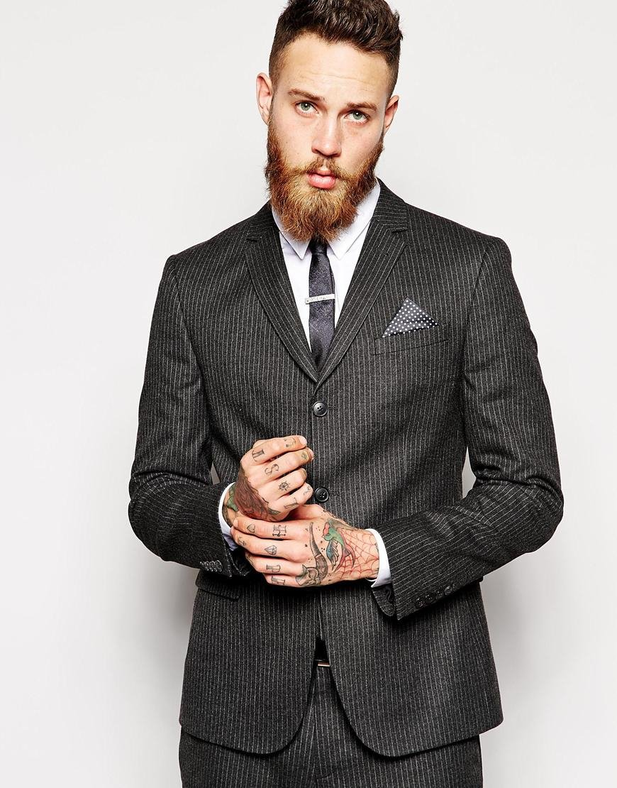 Asos Skinny Fit Suit Jacket In Pinstripe for Men | Lyst