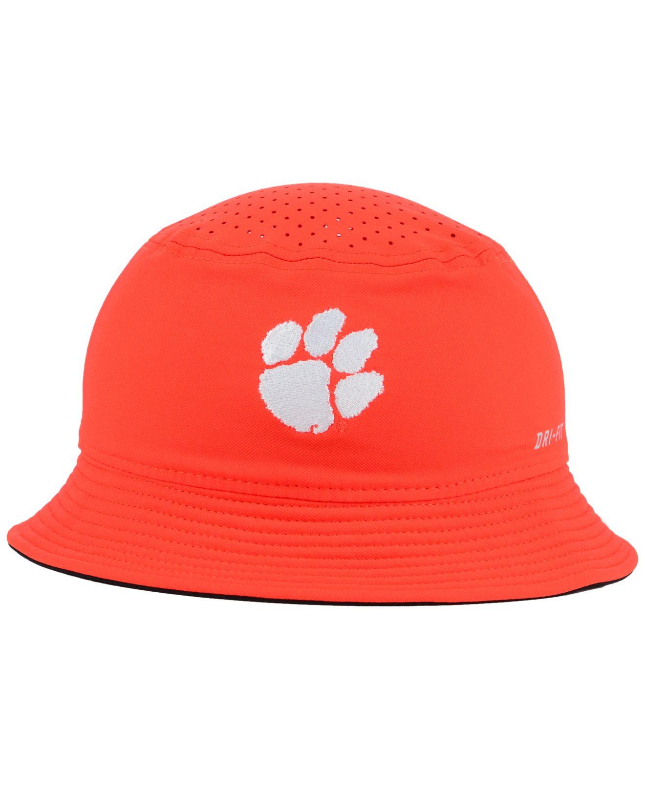 0aaa2aa6949 ... hot lyst nike clemson tigers vapor bucket hat in orange for men 118af  c89ac