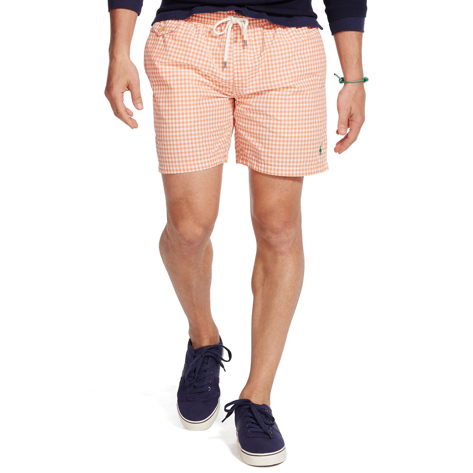 4358d1e406 Polo Ralph Lauren 5¾-inch Traveler Swim Trunk in Orange for Men - Lyst