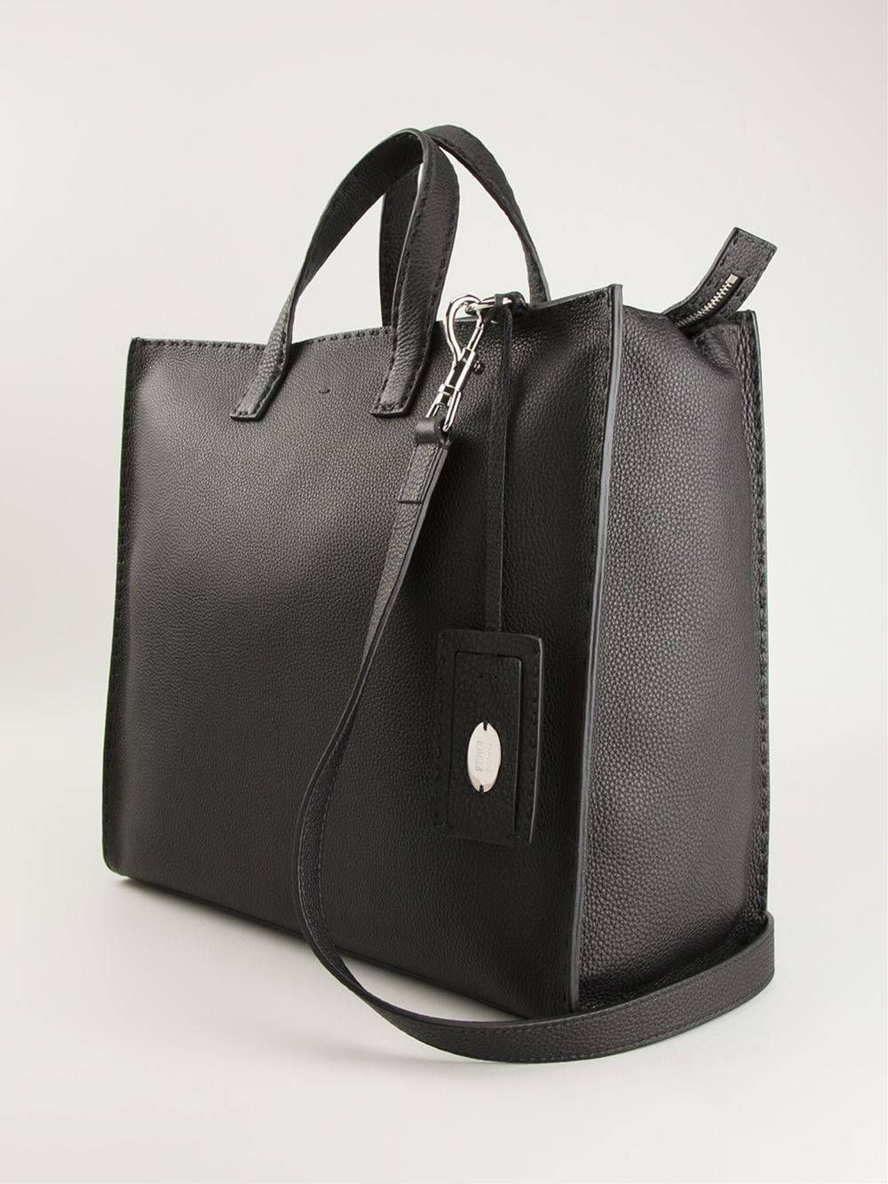 d7b6f112122d ... low cost lyst fendi selleria tote in black for men 59006 3003b ...