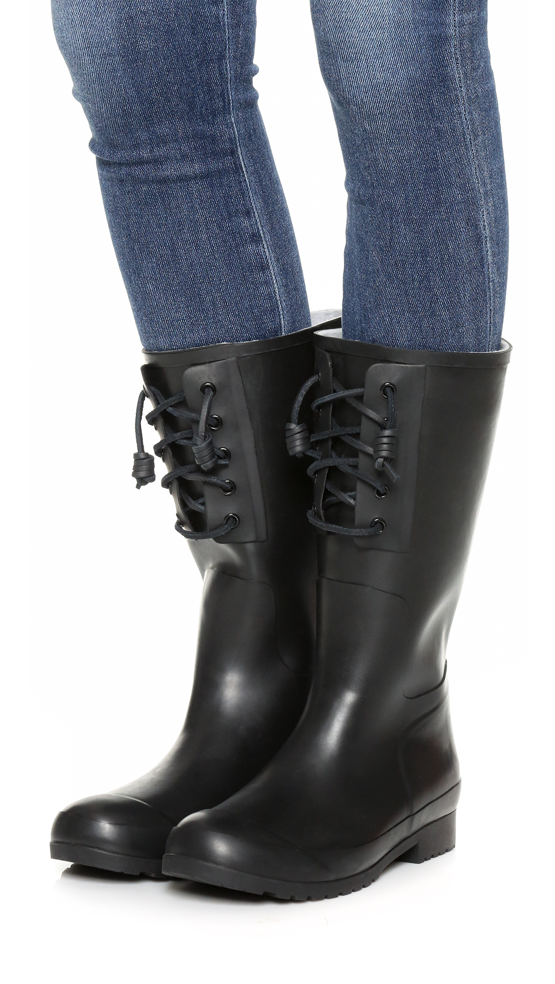 Sperry top-sider Walker Spray Rain Boots in Black | Lyst