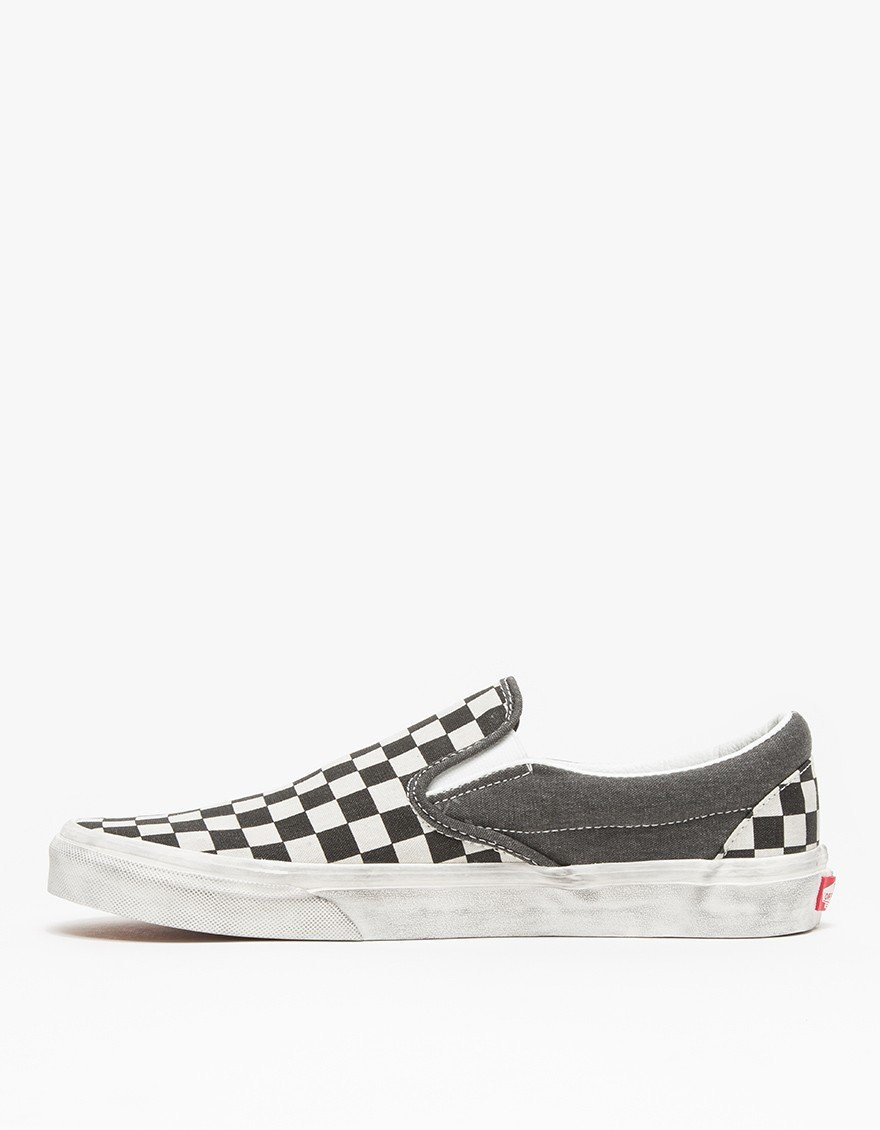 e8a56006a5 Lyst - Vans Overwashed Classic Slip-On Sneakers in White for Men