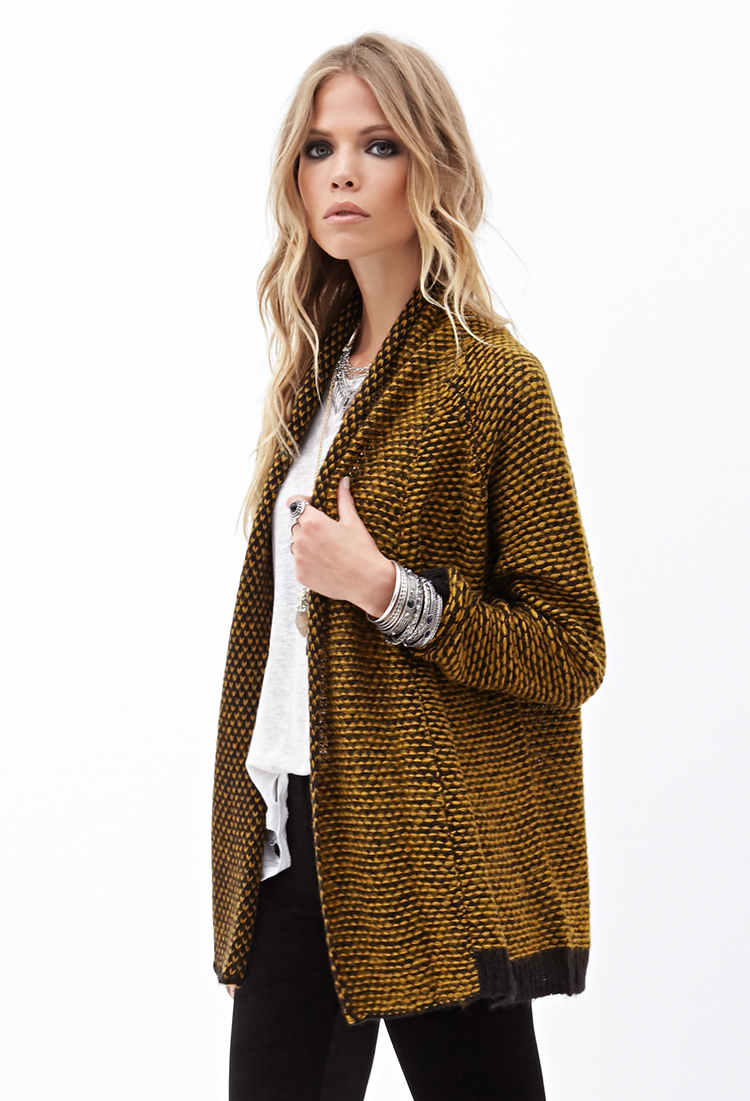 Forever 21 Two-tone Knit Cardigan You've Been Added To The ...