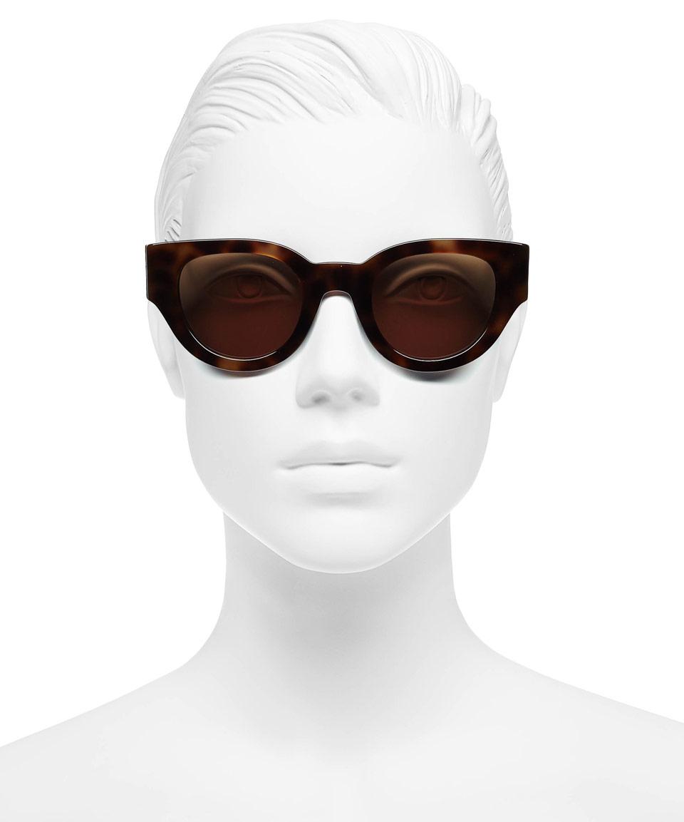 c05c4b04874 Lyst - Céline Navy Tortoiseshell Thick Frame Sunglasses in Blue