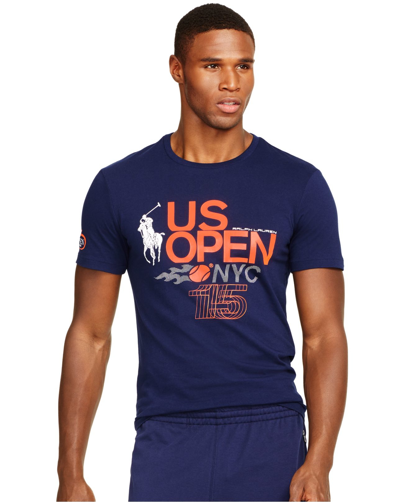 Lyst polo ralph lauren us open custom fit graphic t for Us polo shirts for mens