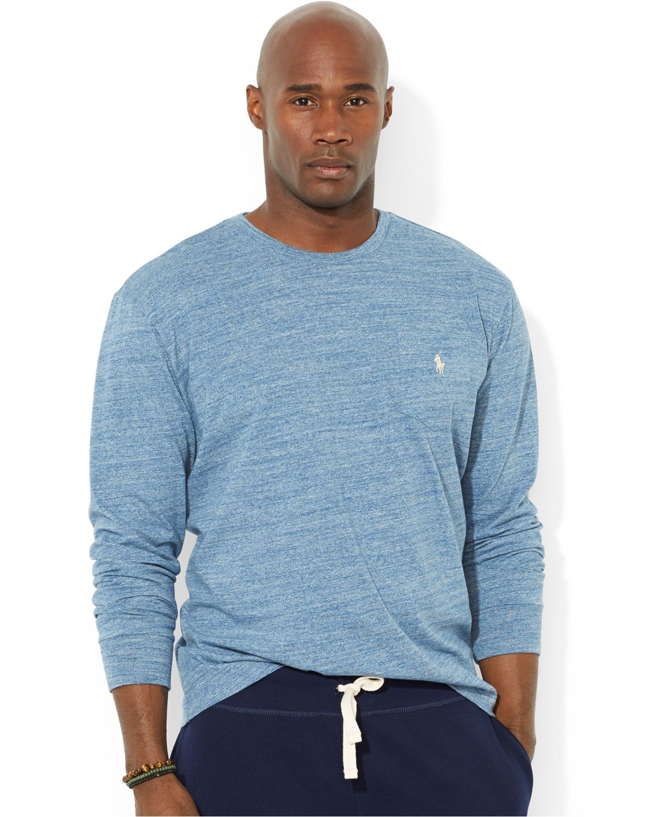 9772b7c0558d Lyst - Polo Ralph Lauren Big And Tall Crew-Neck Pocket T-Shirt in Blue for  Men