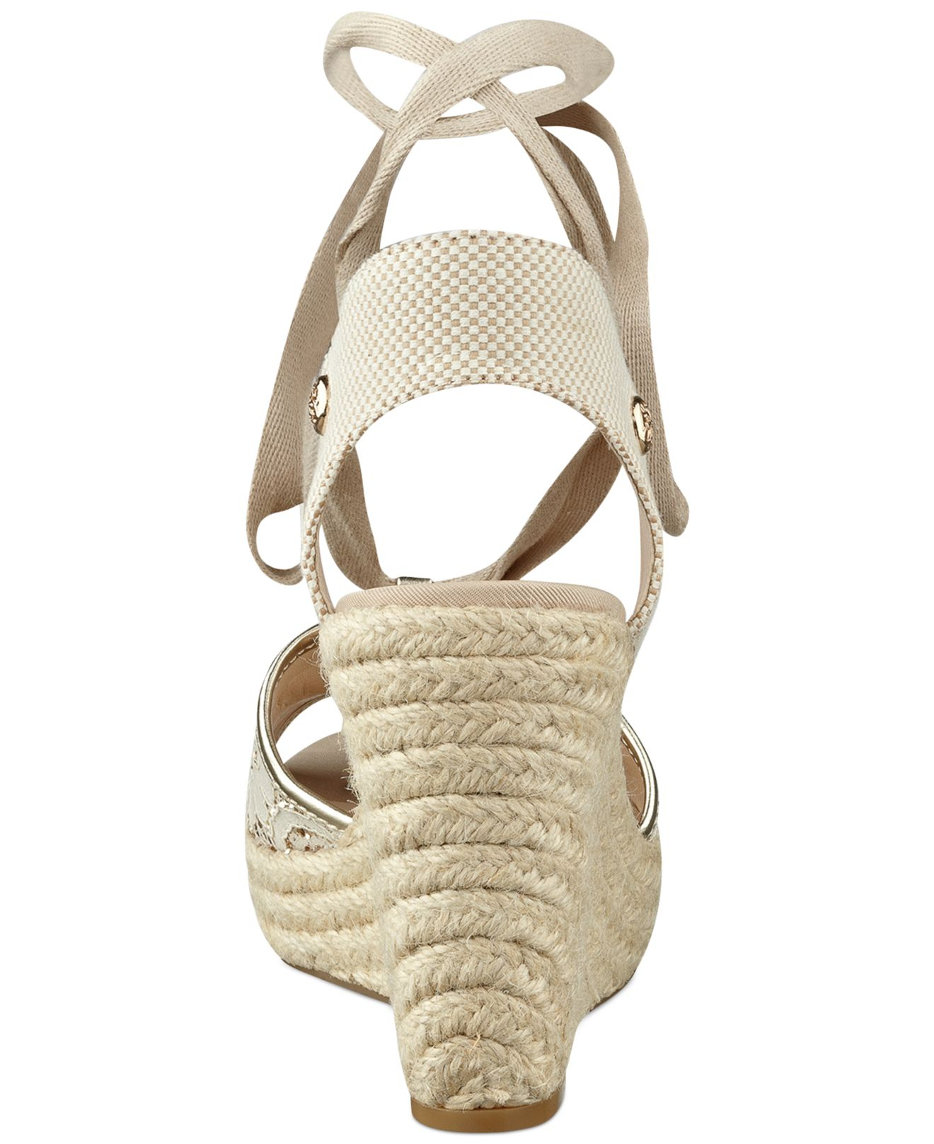 Lyst Guess Eylyna2 Ankle Wrap Espadrille Platform Wedge