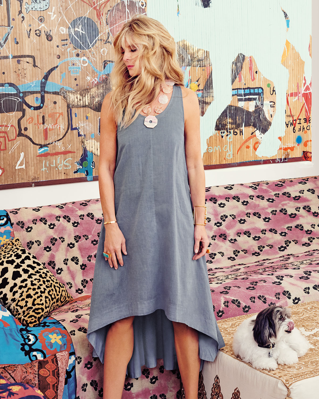 da2278750f7be8 Lyst - Eileen Fisher Organic-Cotton Trapeze Dress in Gray