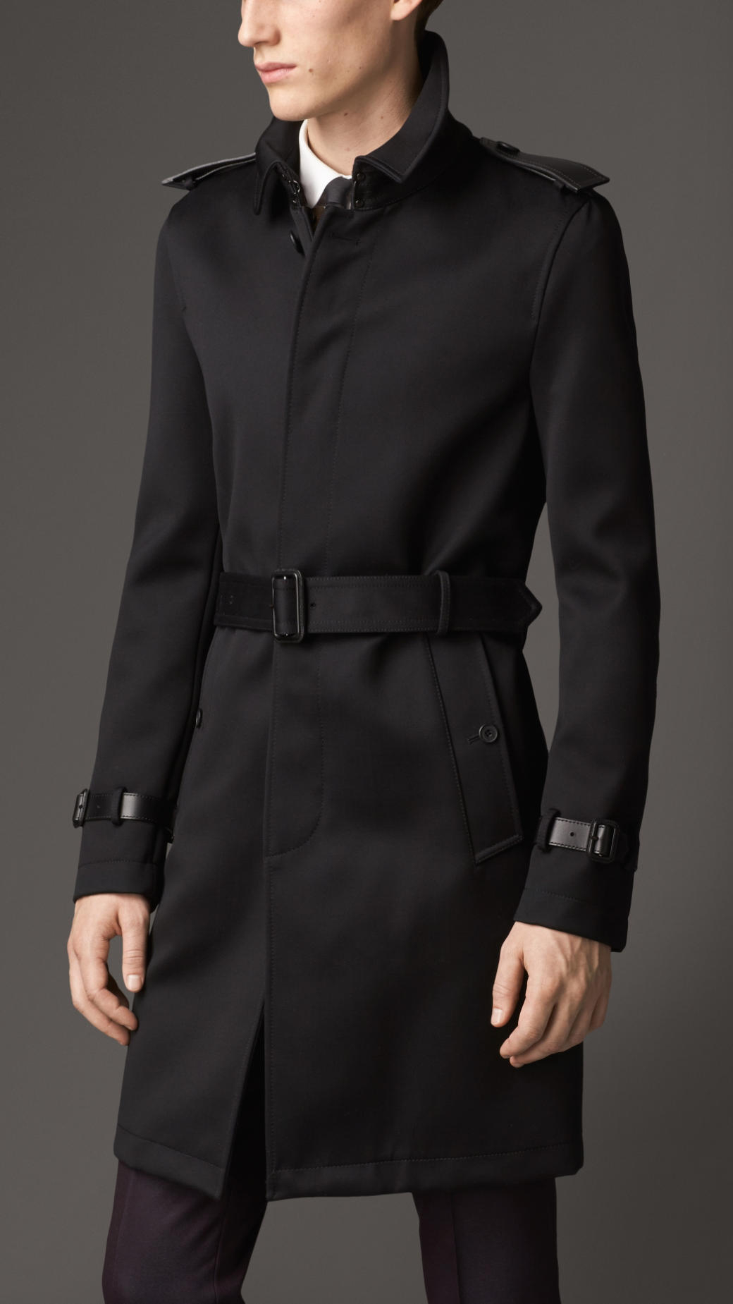 689d15ae162 Burberry Burberry Silk Wool Coat for Black Trench Men Length Mid in Lyst  wAdnqt4A