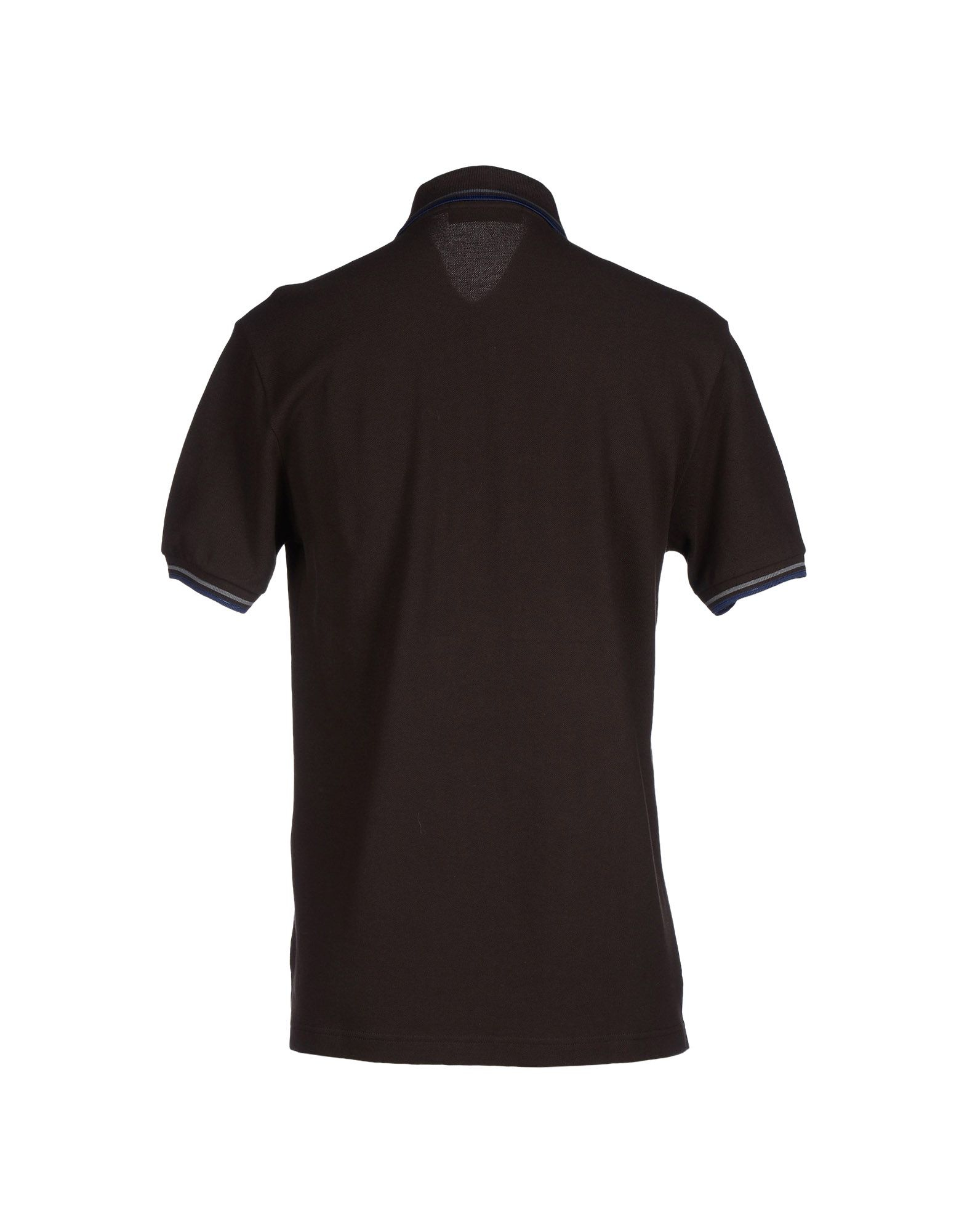 Fred perry polo shirt in brown for men lyst for Black brown mens shirts