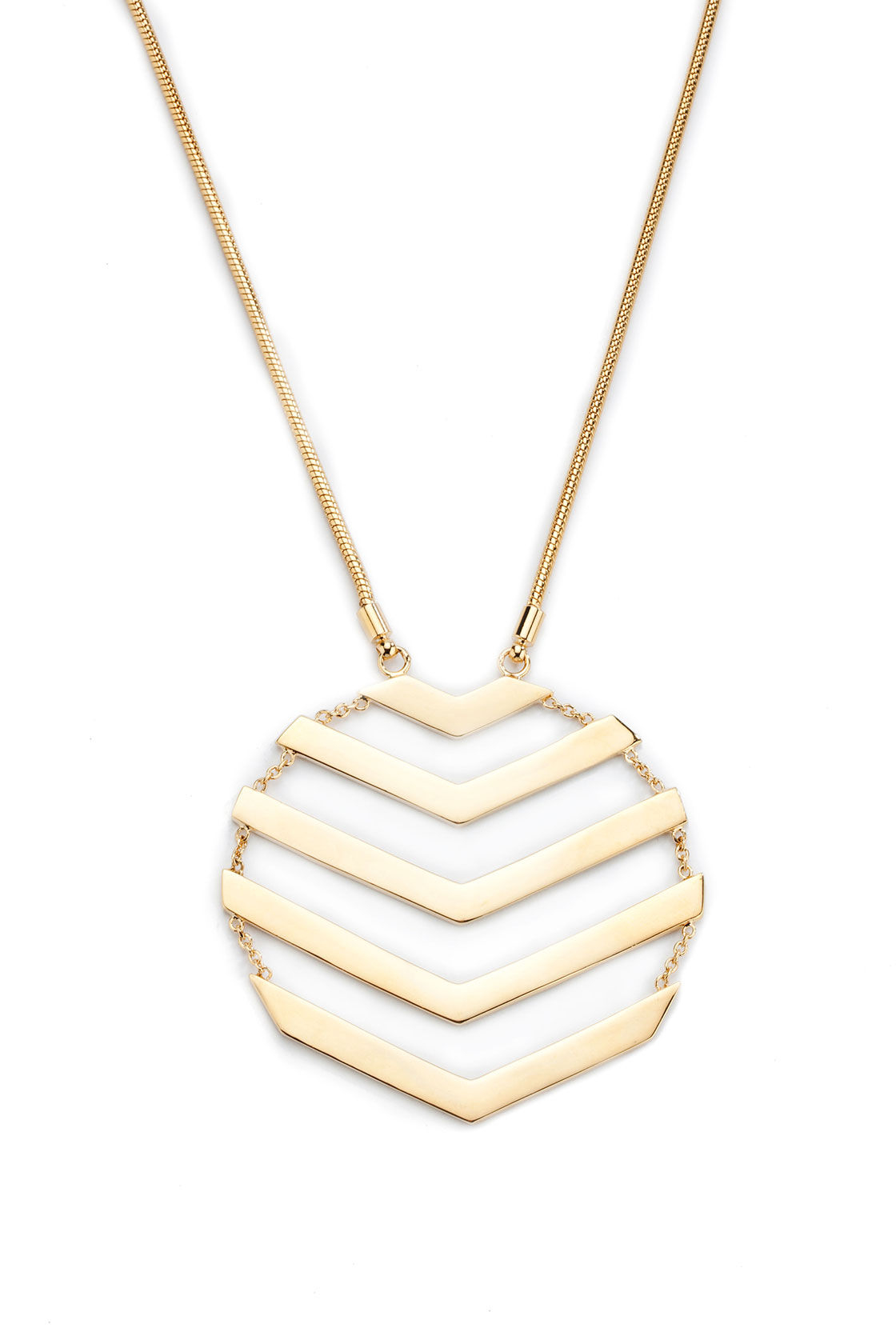 chevron pendant necklace in gold lyst