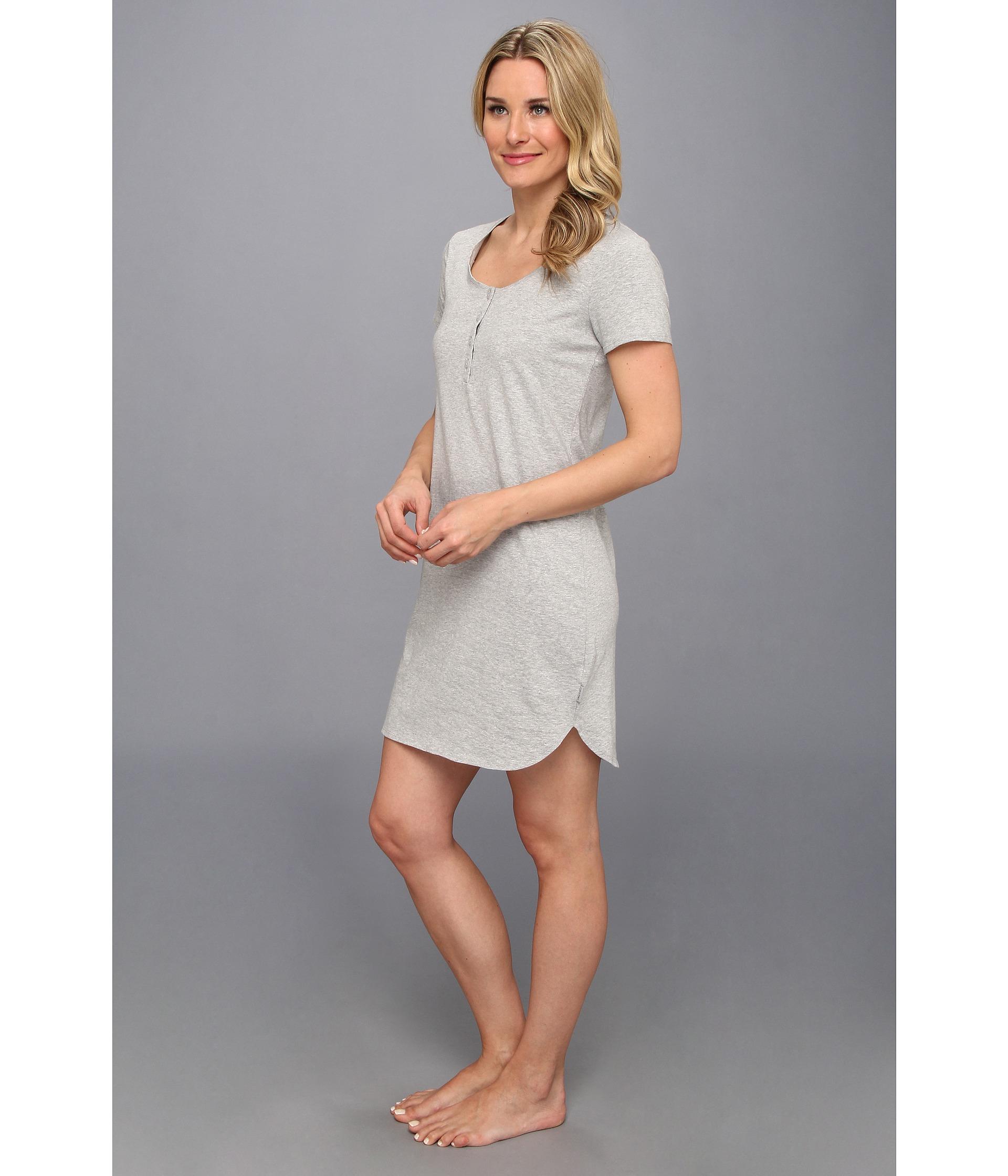 ceffdf5a21 Lyst - Calvin Klein Ss Nightshirt in Gray