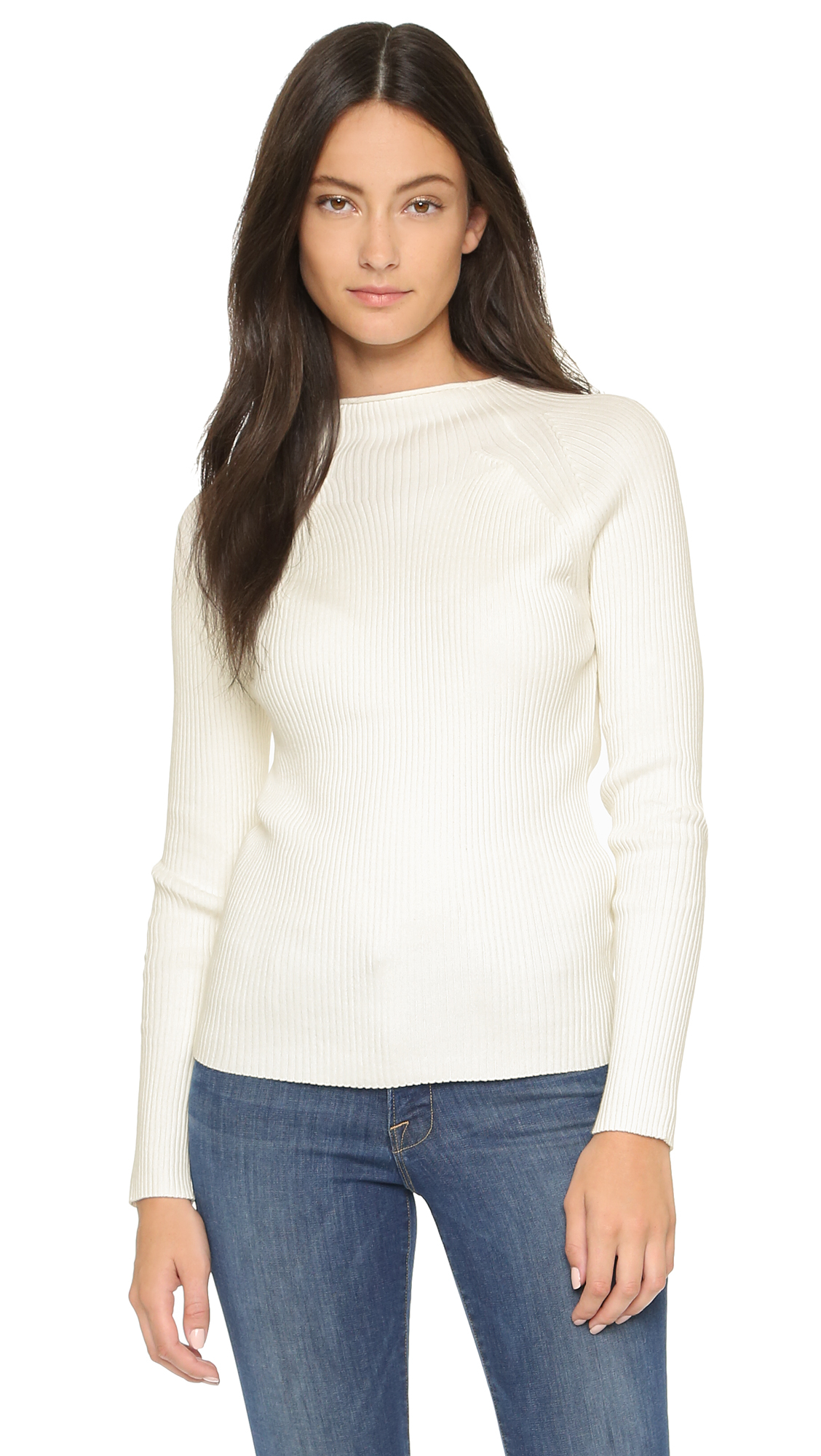 c961a8a1a52a59 Won Hundred Vega Ribbed Sweater in White - Lyst
