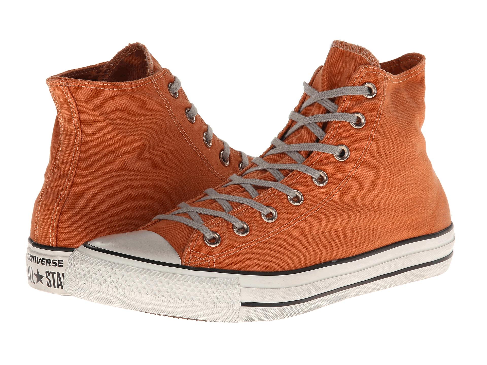 35bae4e00 Converse Chuck Taylor All Star Washed Canvas Hi in Orange - Lyst