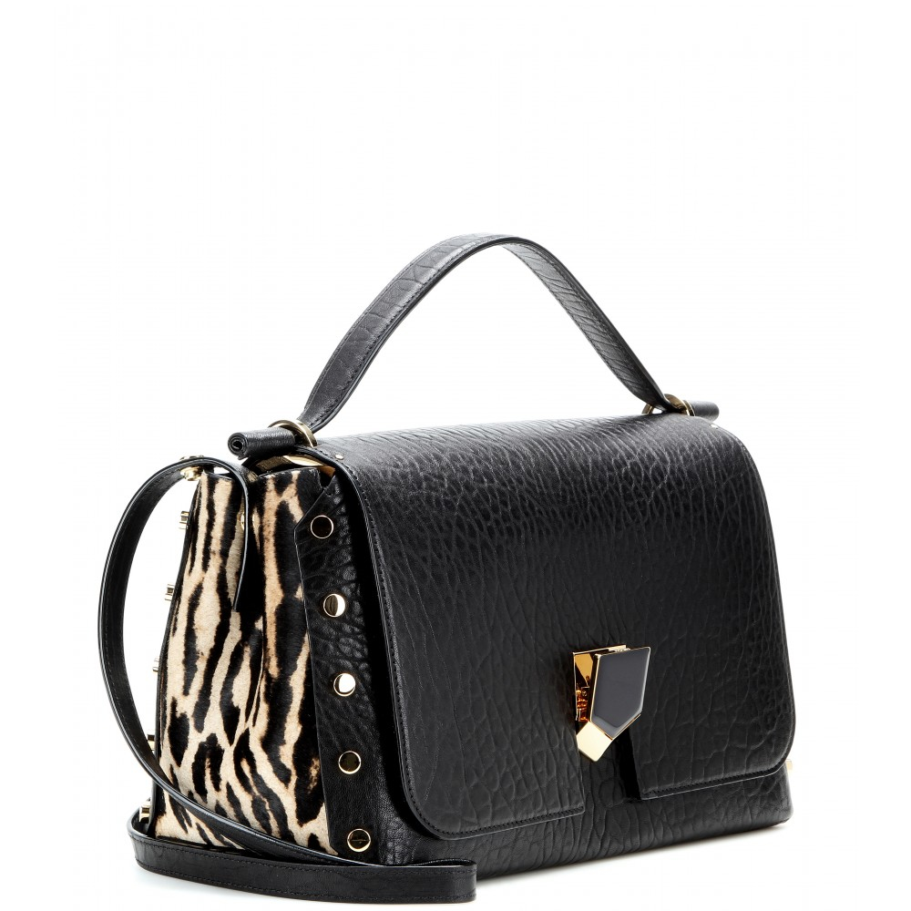 cc6520d2dcdaf Lyst - Jimmy Choo Lockett Shoulder Bag in Black