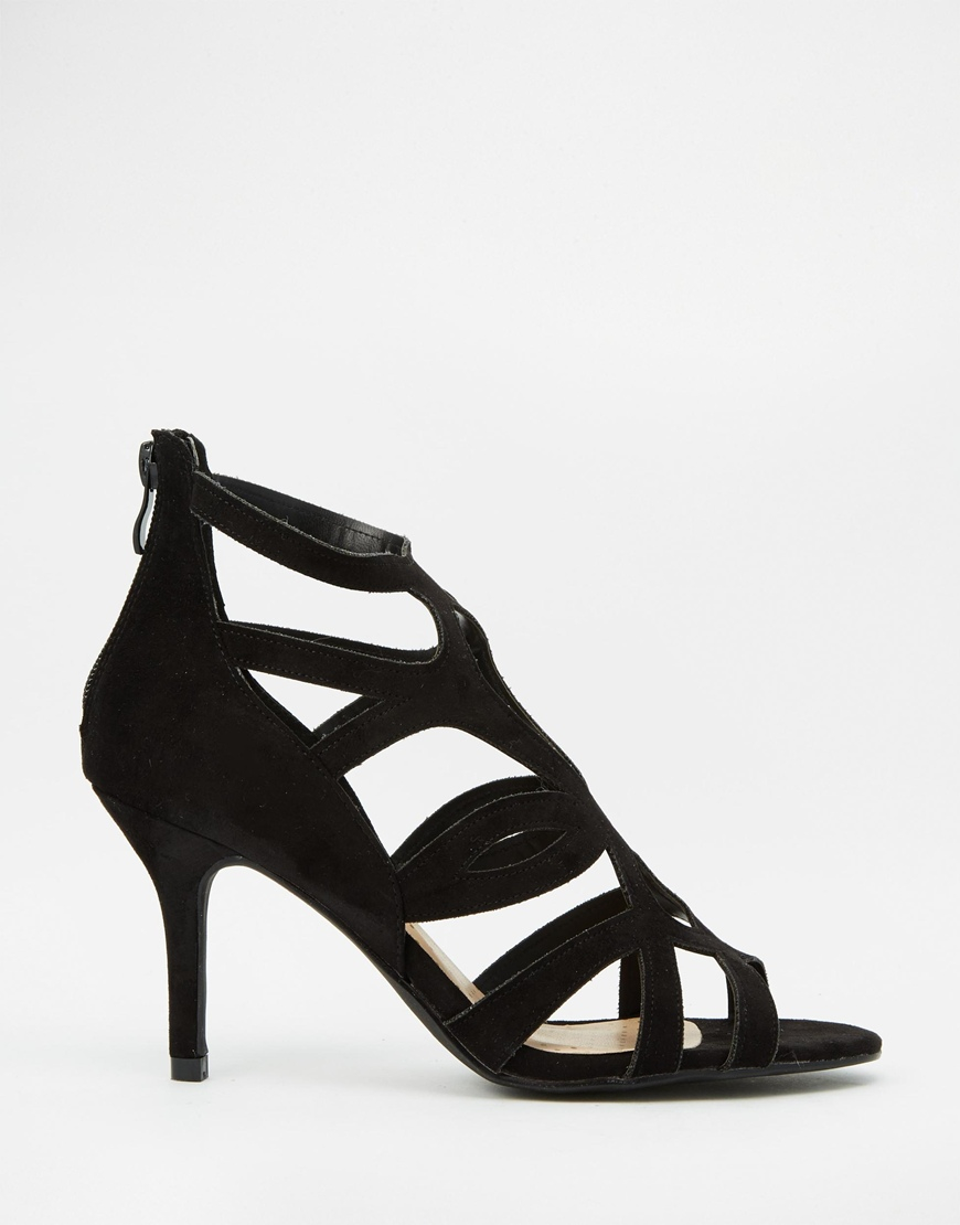 c36f410d57c5 Oasis Asis Caged Heeled Sandal in Black - Lyst