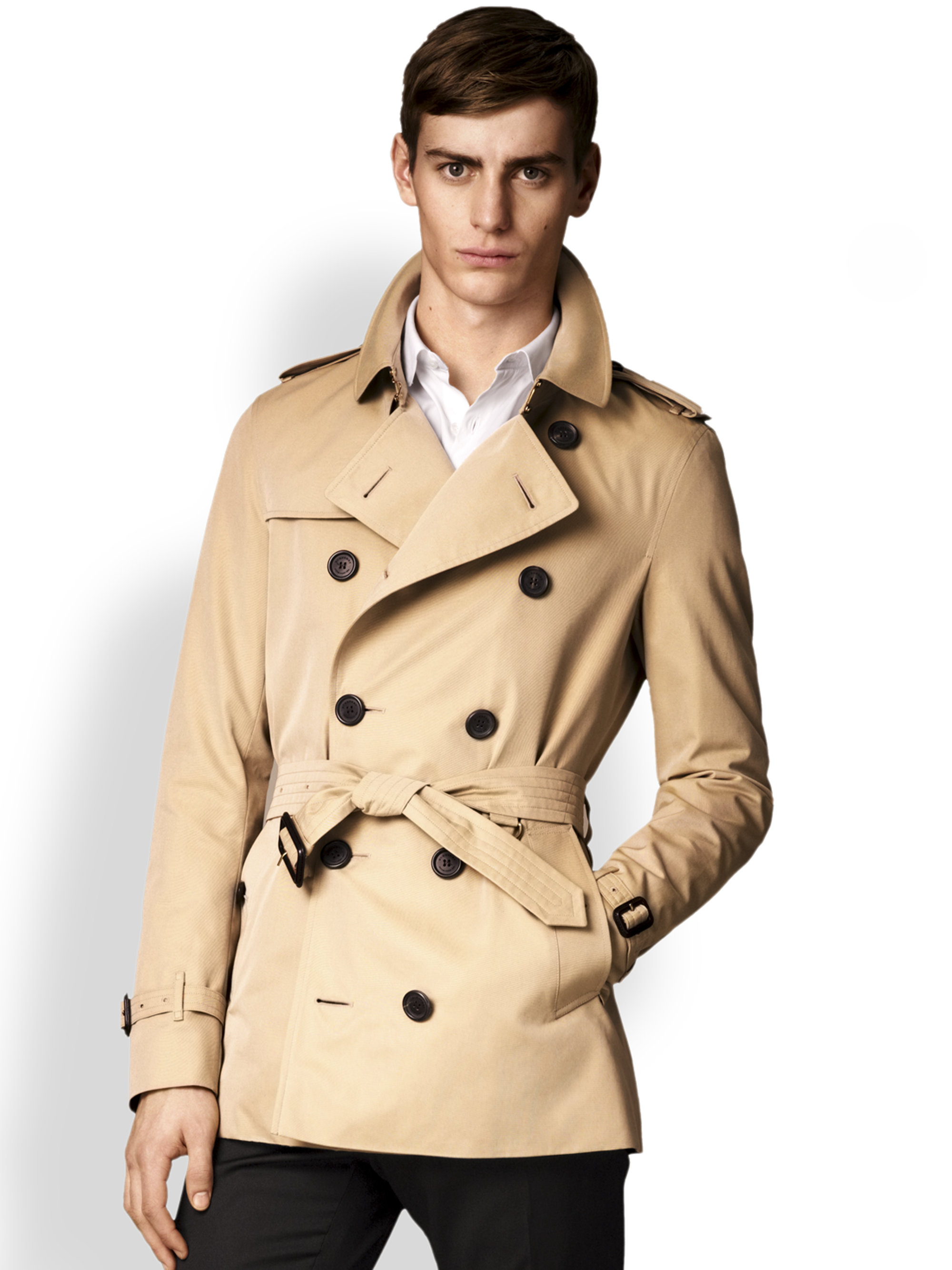 Burberry Sandringham Heritage Trench Coat in Natural for ...