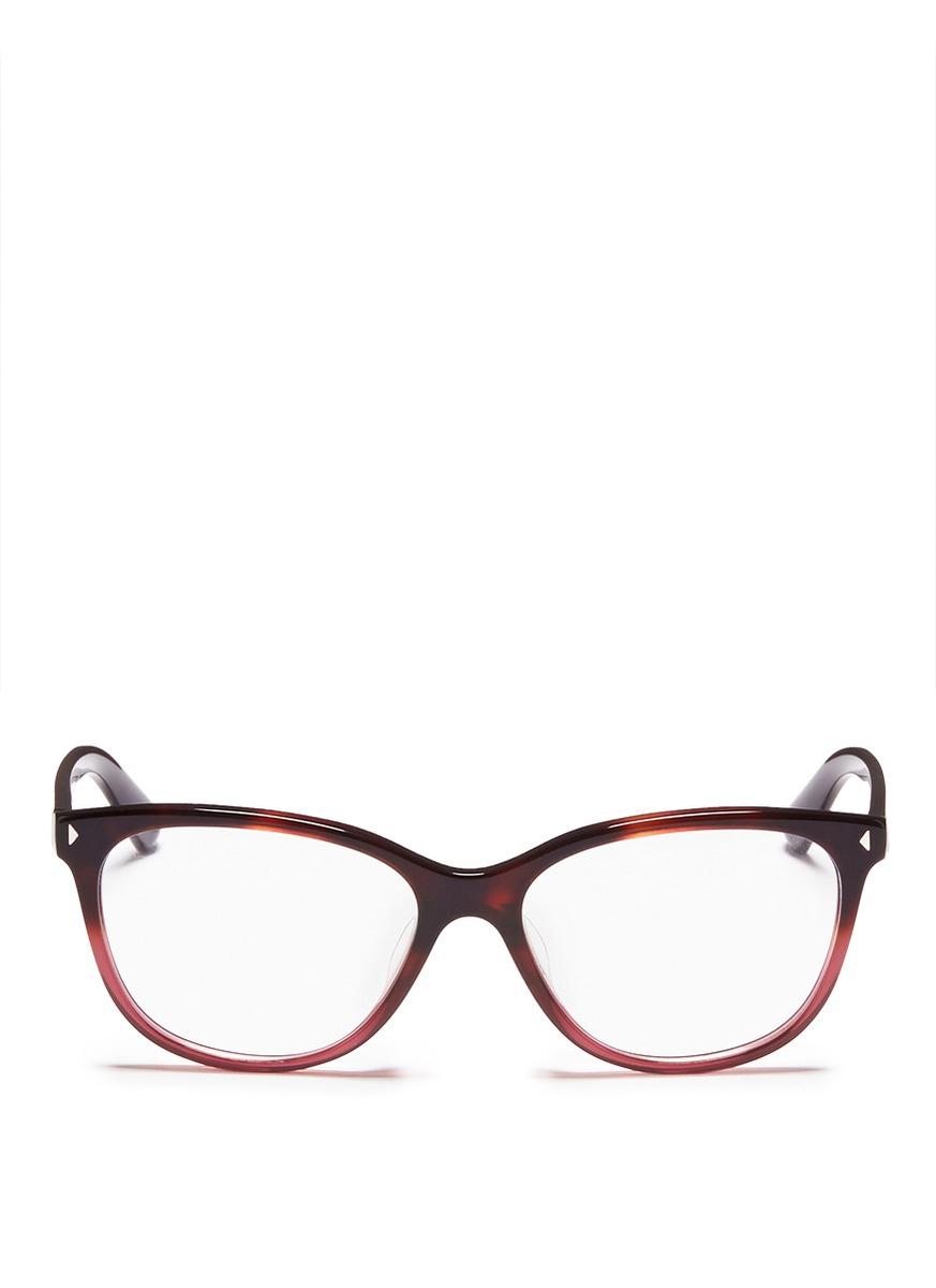 prada tortoiseshell ombr 233 acetate optical glasses lyst