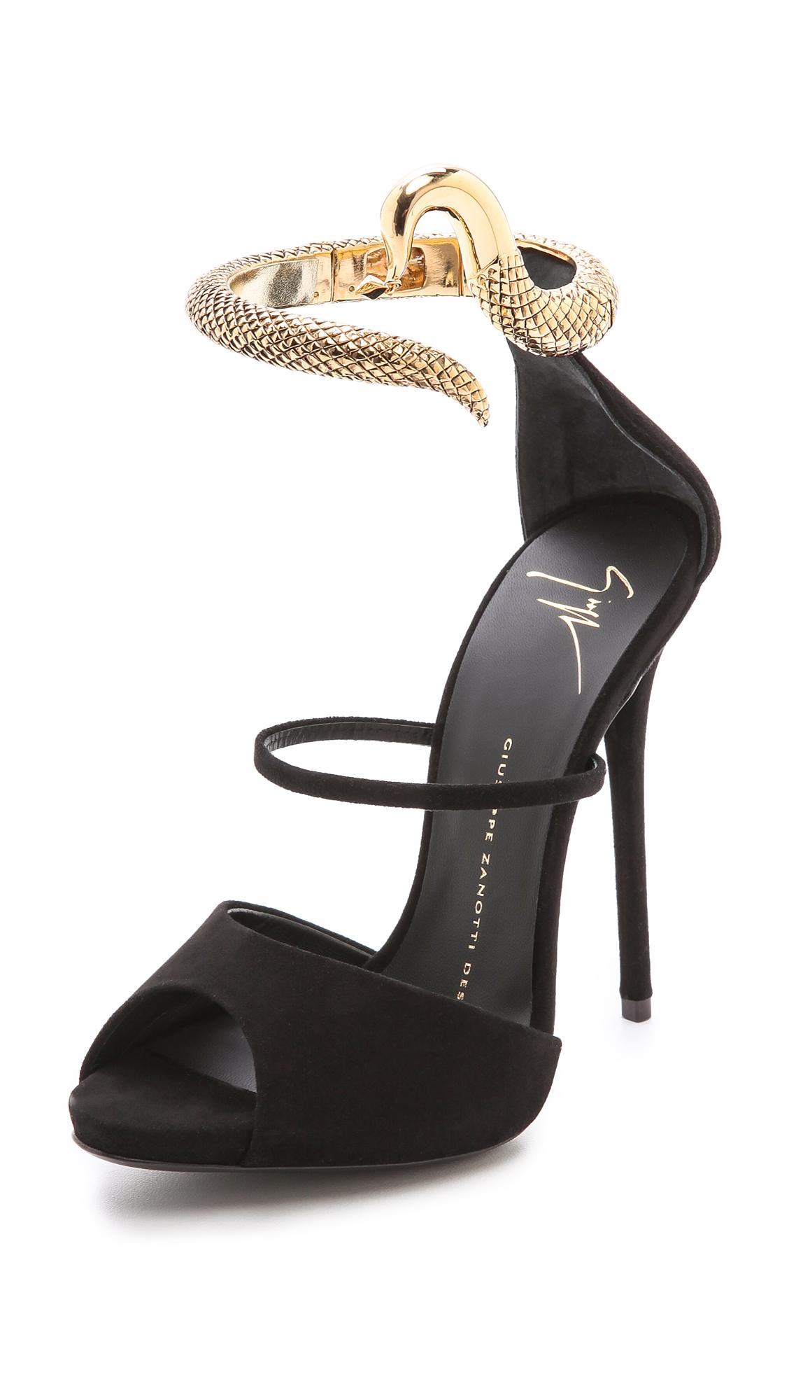High heels python boots - 5 6