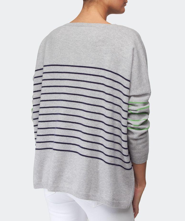 Cocoa cashmere Metropolitan Striped Cashmere Sweater in Blue | Lyst