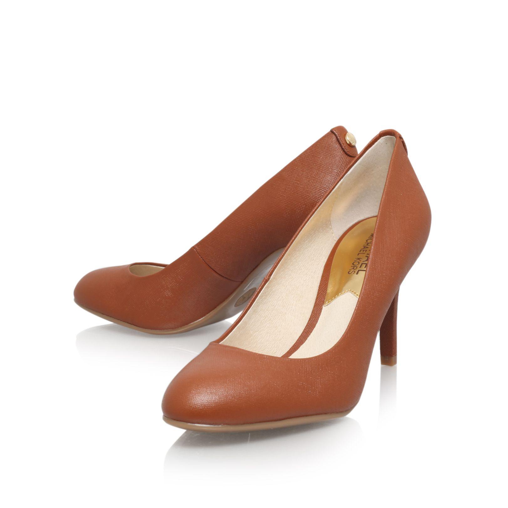 michael kors mk flex high heel court shoes in brown lyst. Black Bedroom Furniture Sets. Home Design Ideas