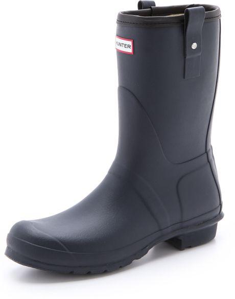 Hunter boots blue original short rain boots product 1 20423320 0