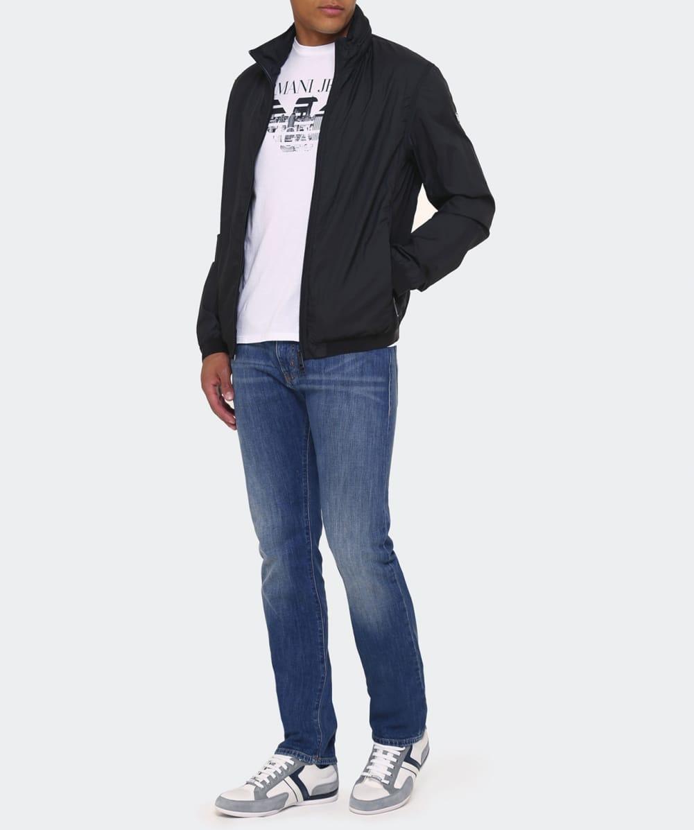 Lyst - Armani Jeans Linen Blouson Jacket in Black for Men