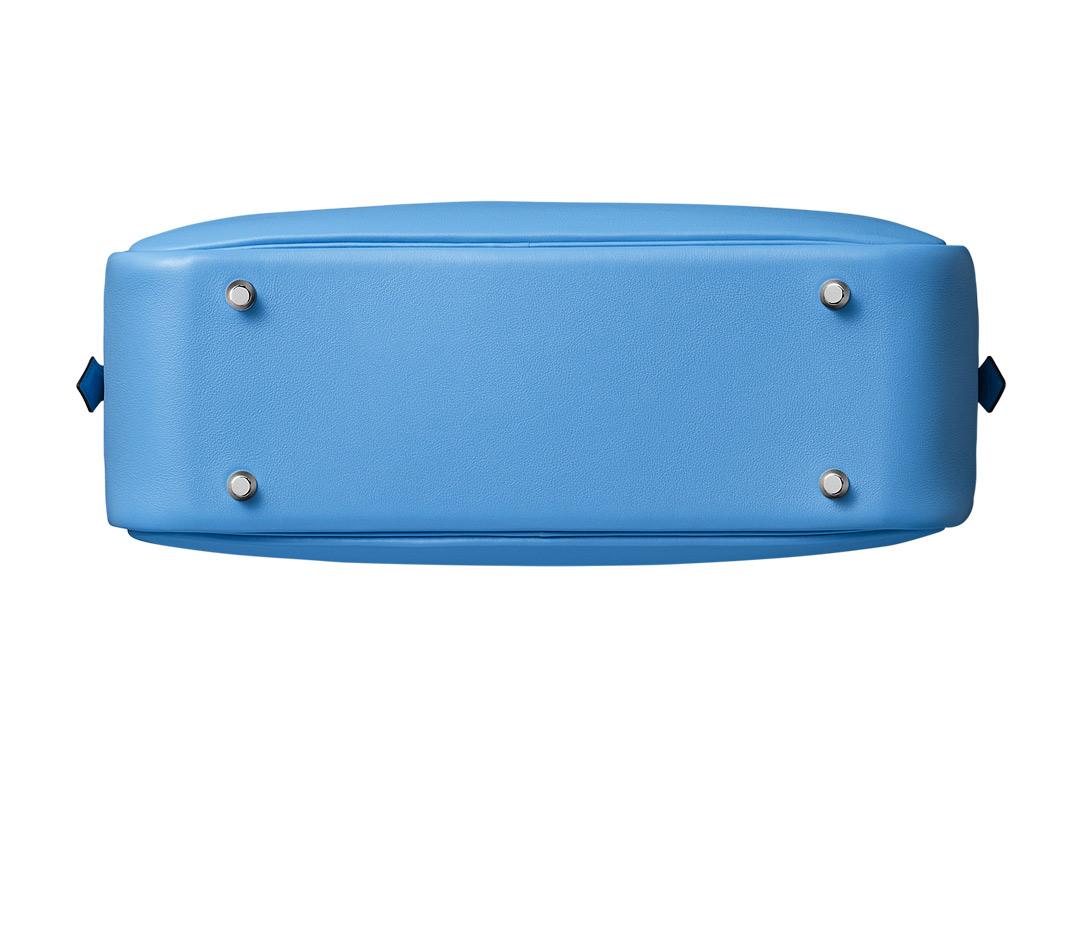 hermes Mini Convoyeur mallard blue/petrol blue womens