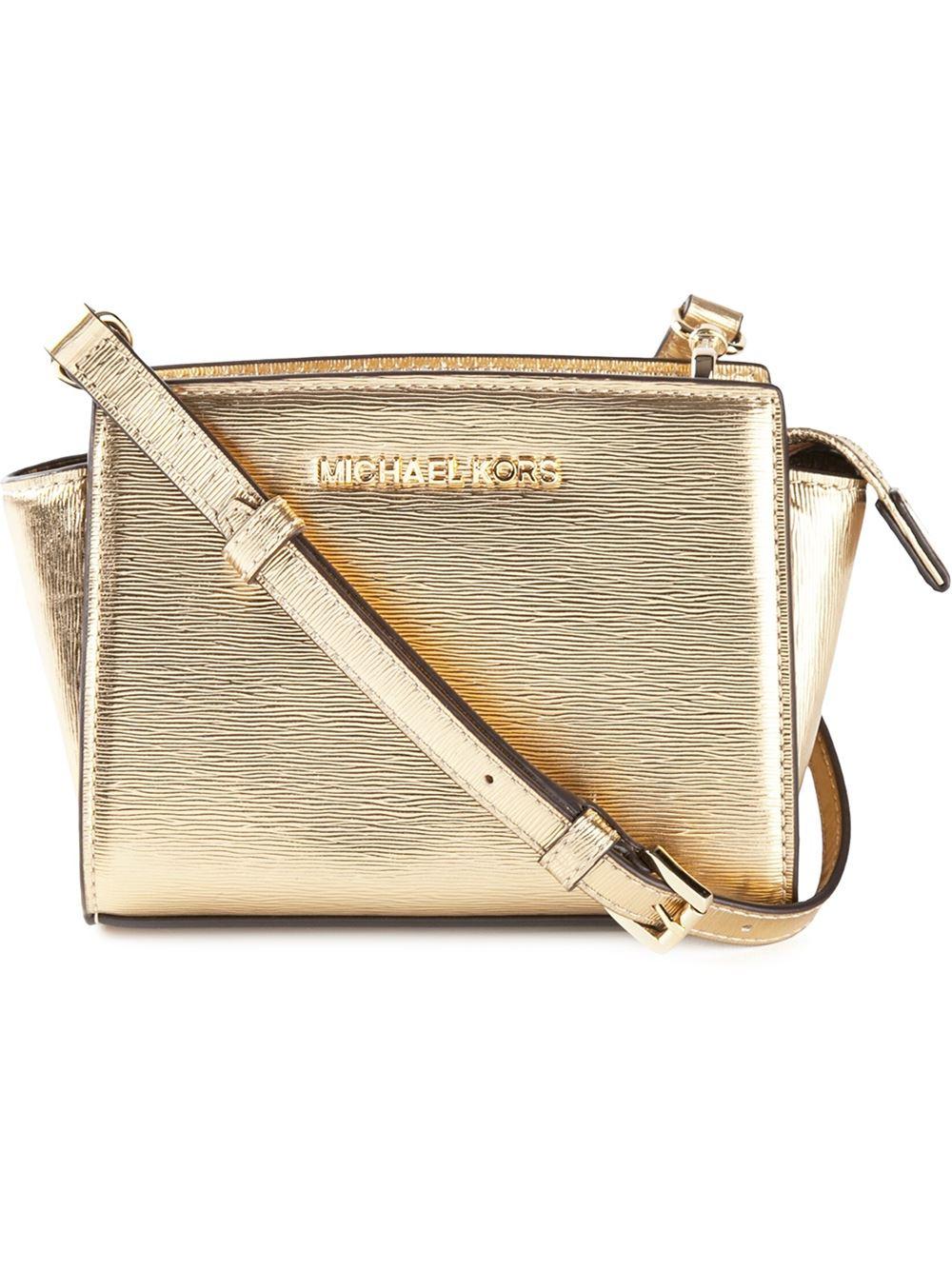 45be3d687961 MICHAEL Michael Kors 'Selma' Crossbody Bag in Metallic - Lyst