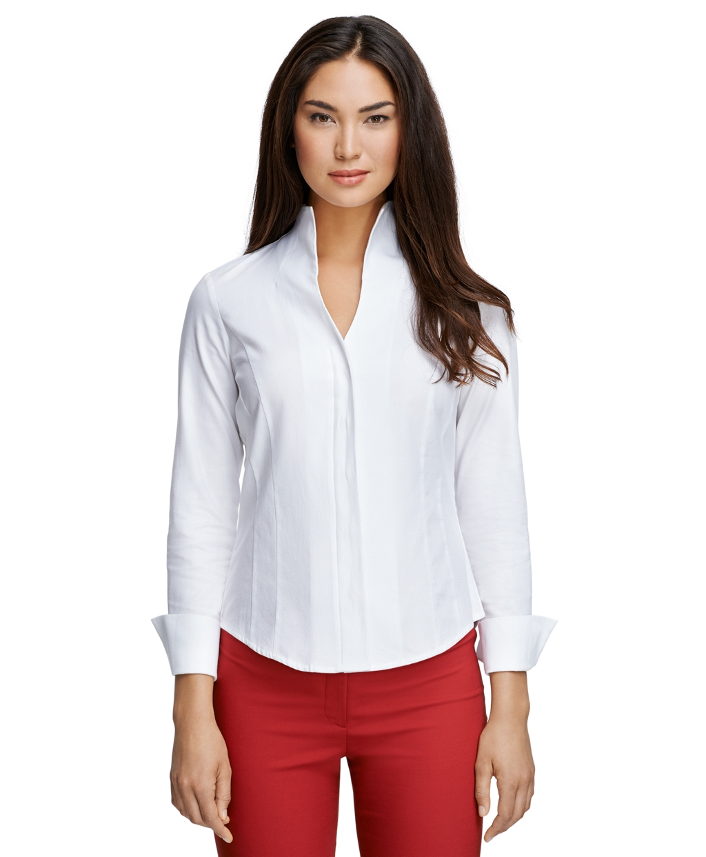 Lyst Brooks Brothers Collarless Dress Shirt In White