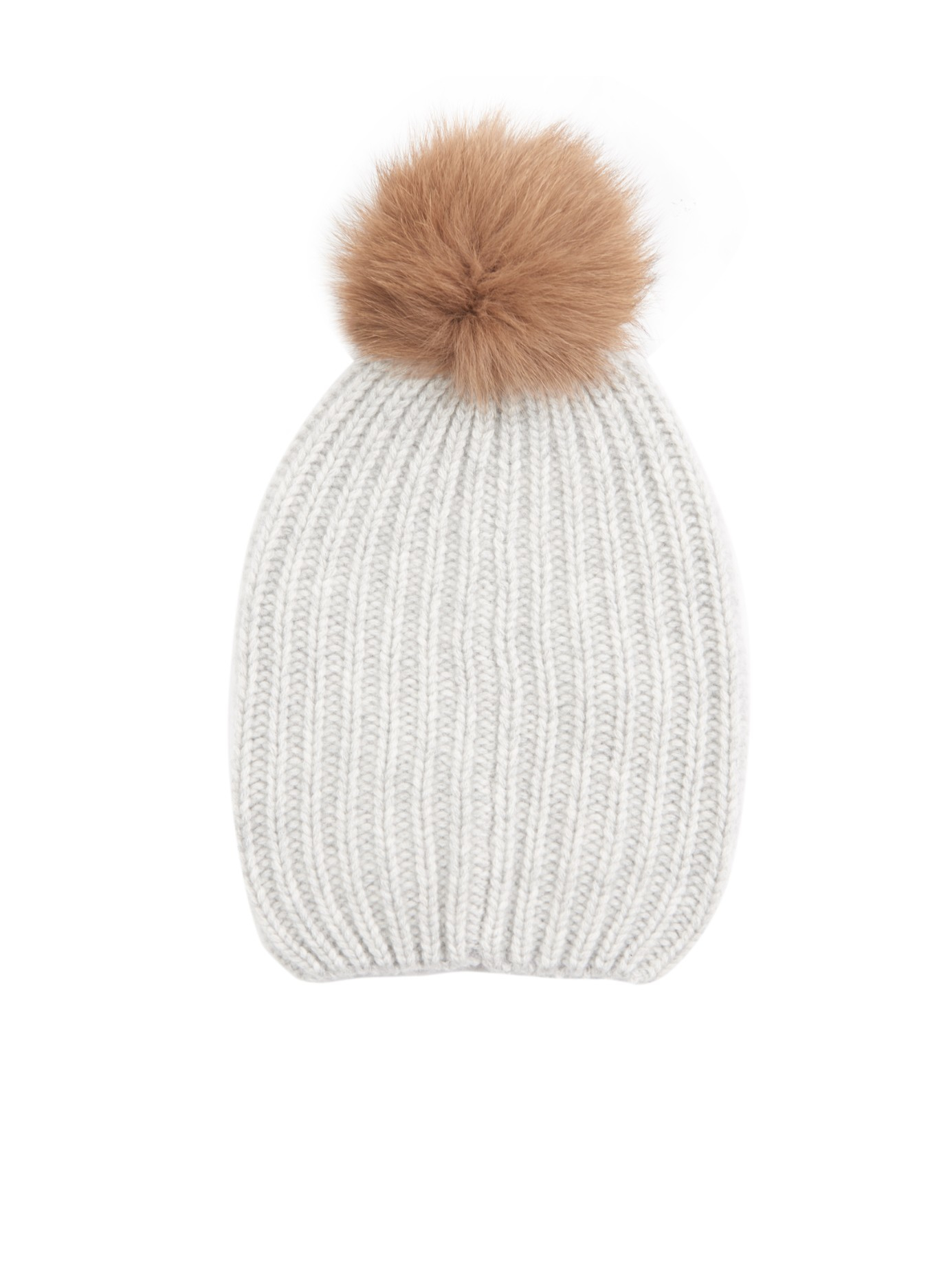 Knitting Pattern For Cashmere Beanie : Woolrich Ribbed-Knit Cashmere Beanie Hat in Gray Lyst