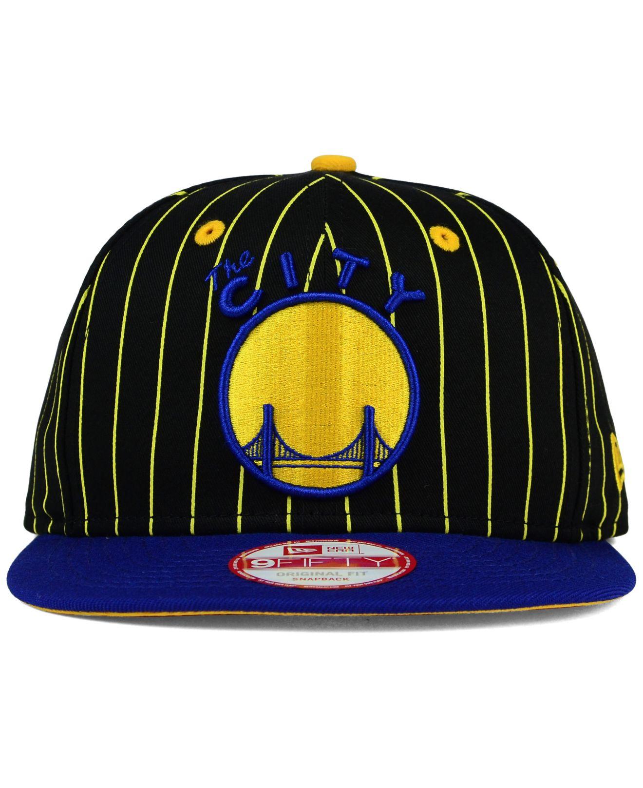brand new 426fd c8620 KTZ Golden State Warriors Vintage Pinstripe 9fifty Snapback Cap in ...