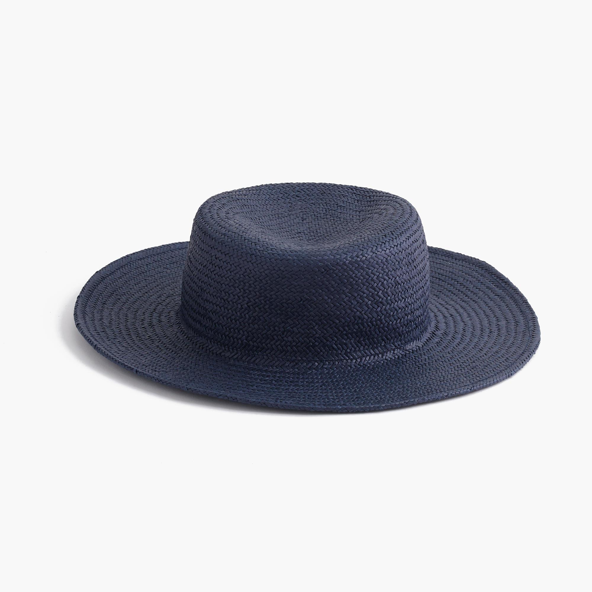 j crew raffia straw hat in blue lyst