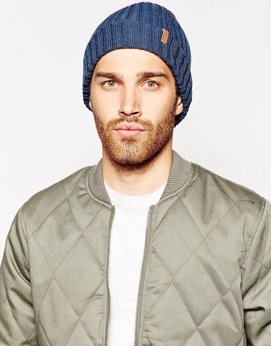 Lyst - Fjallraven Byron Beanie Hat in Blue for Men 6341b237241