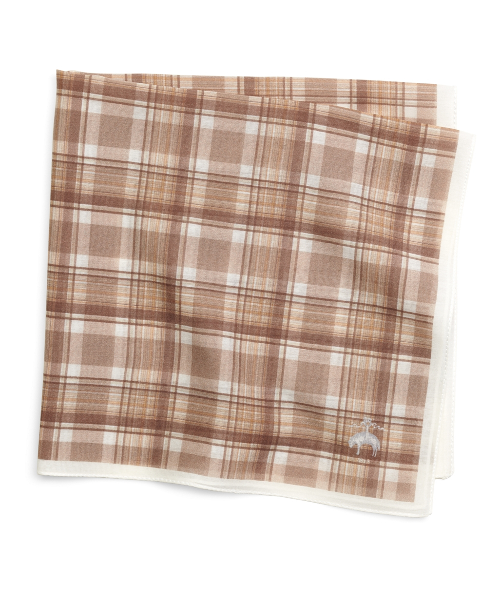 lyst brooks brothers brown plaid pocket square in brown. Black Bedroom Furniture Sets. Home Design Ideas