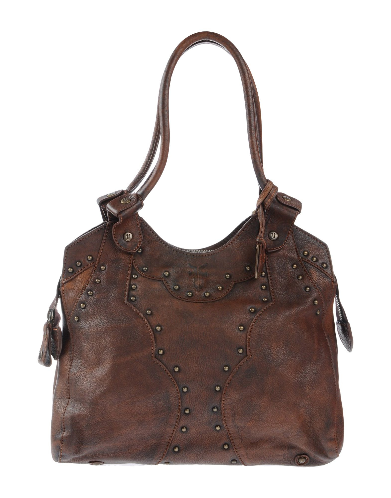 Lyst - Frye Studded Leather Shoulder Bag in Brown