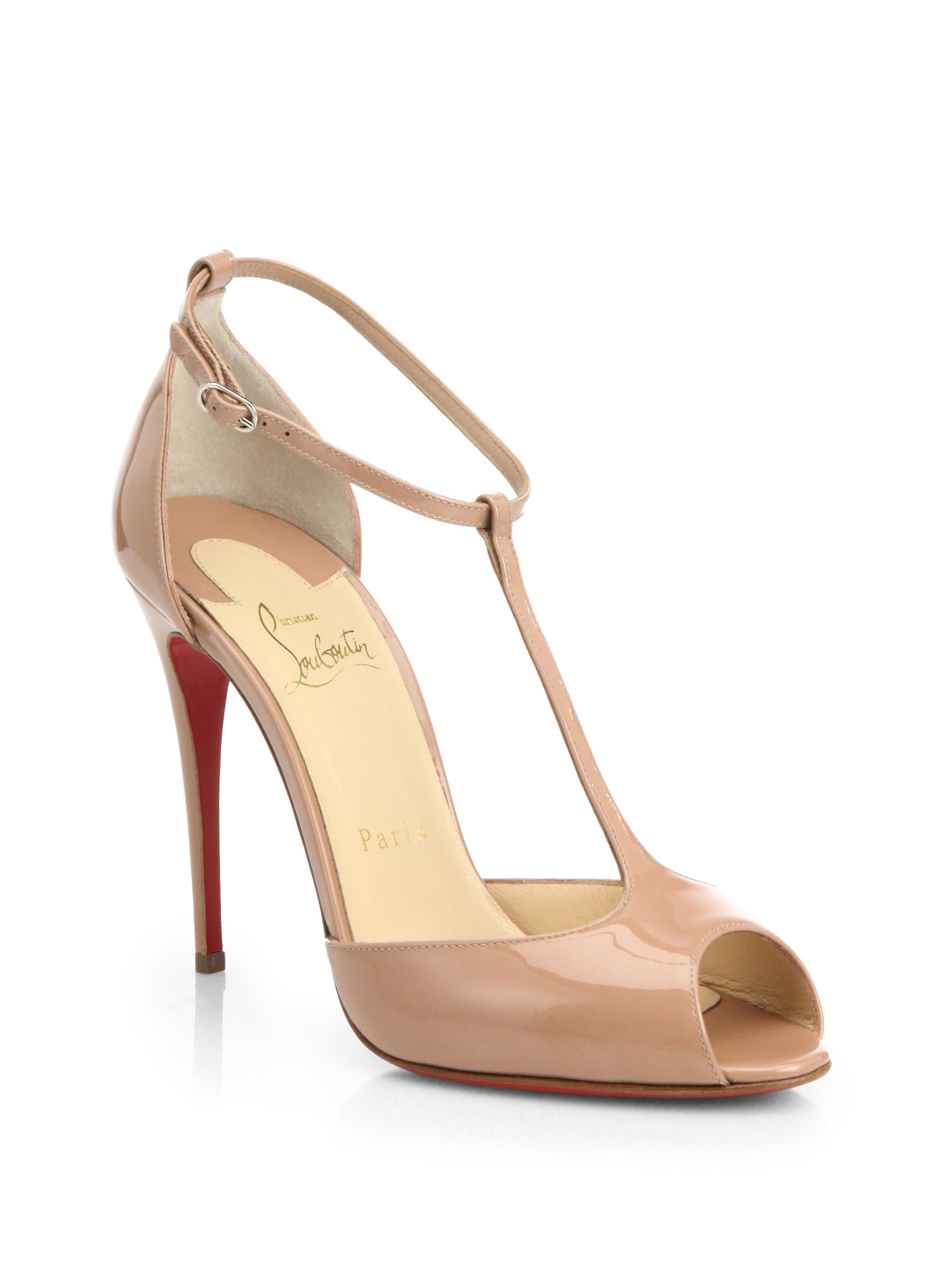 cheapest price cheap online outlet store cheap price Christian Louboutin Patent T-Strap Pumps cheap sale very cheap outlet cheapest price IuKlM