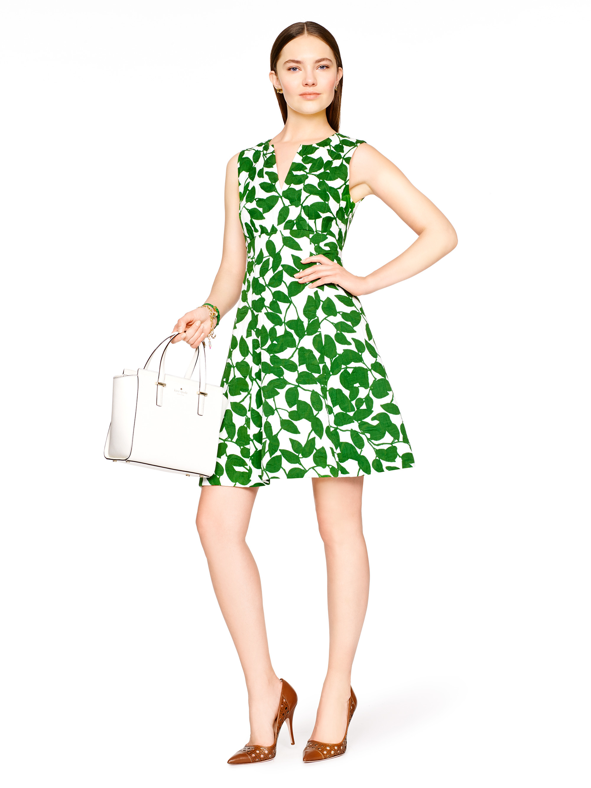 Lyst Kate Spade New York Garden Leaves Pique A Line