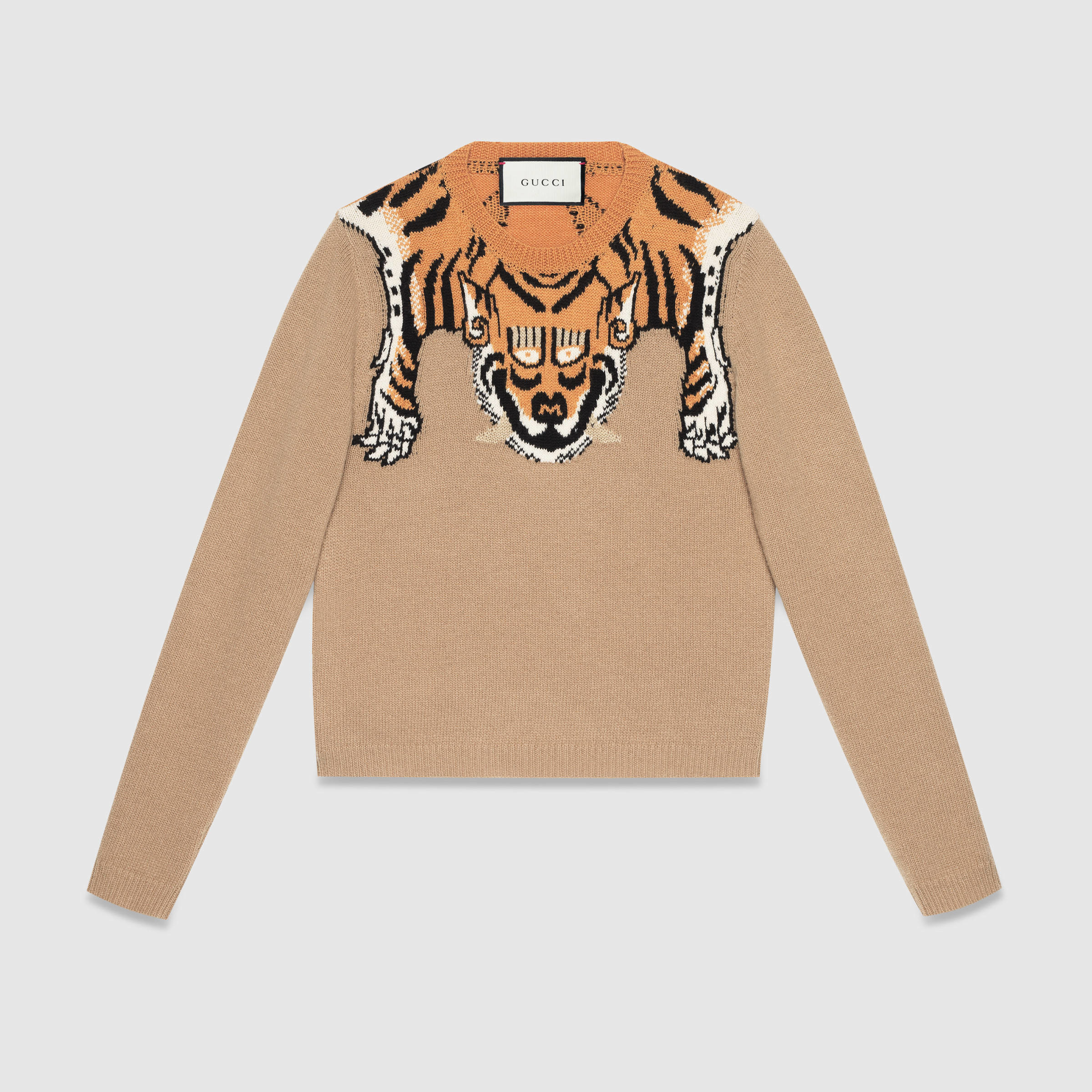 5989339299ce5 Lyst - Gucci Wool Sweater With Tiger for Men