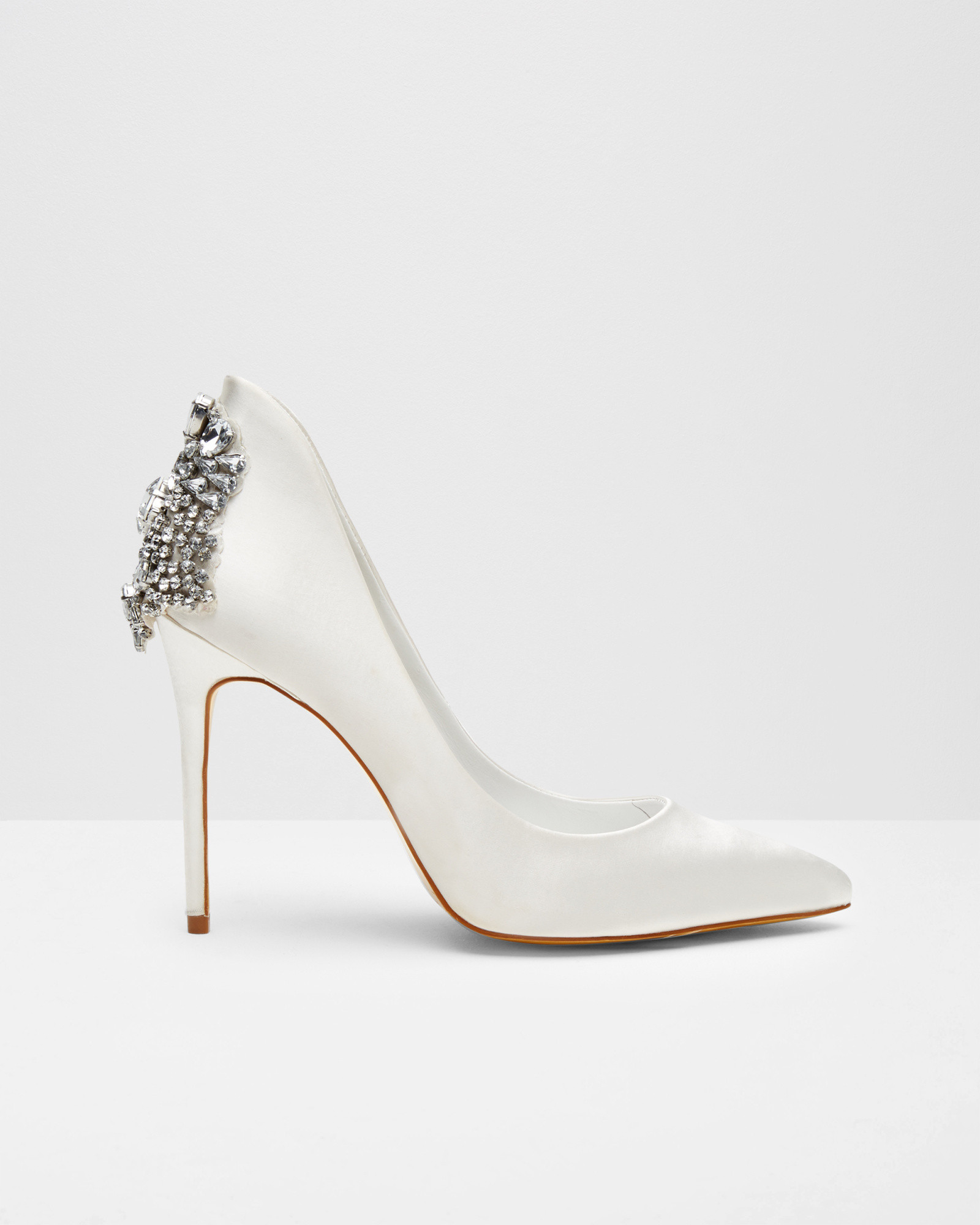 da7f2c8676772f Lyst - Ted Baker Pointed Embellished Court Shoes in Natural