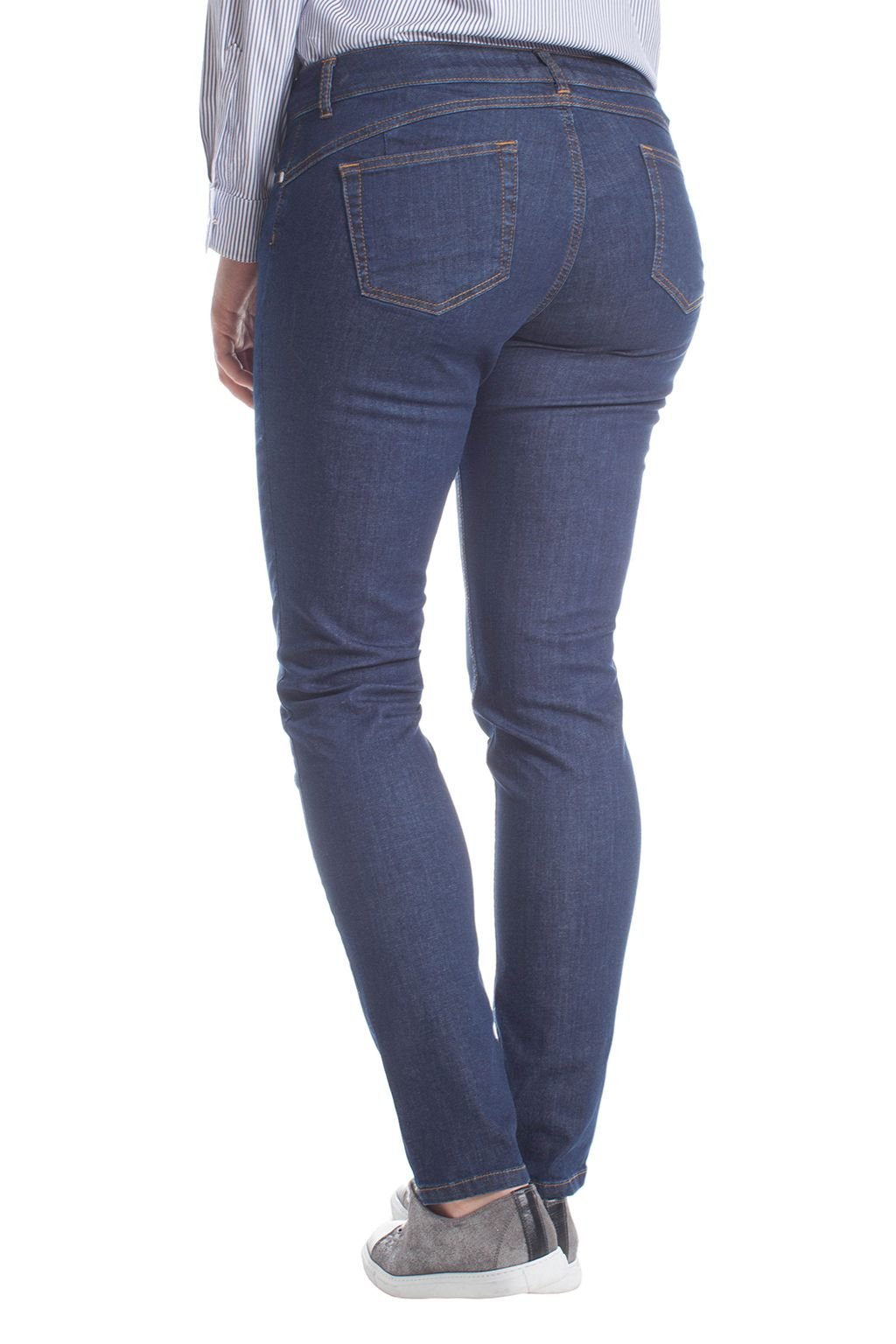 elena miro plus size skinny push up jeans in blue lyst. Black Bedroom Furniture Sets. Home Design Ideas