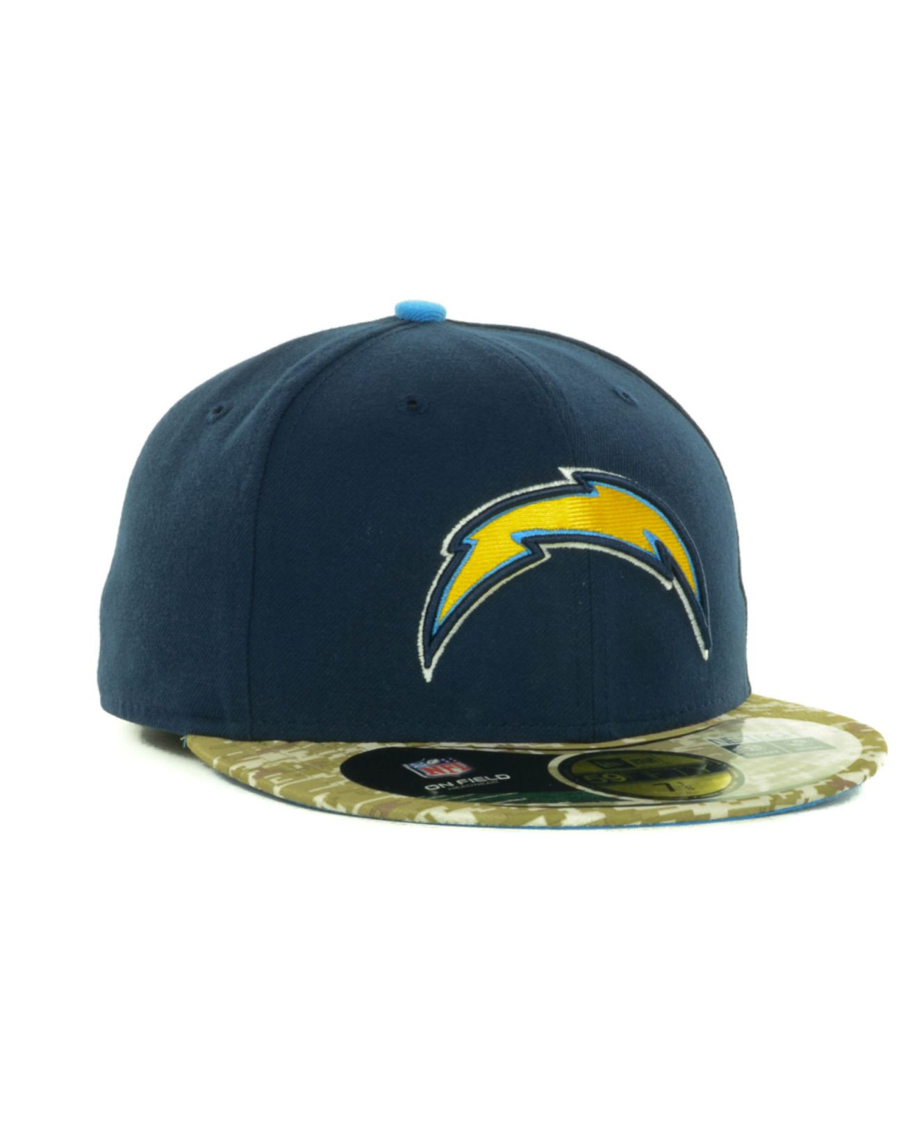 San Diego Chargers Fitted Hats: Ktz San Diego Chargers Salute To Service On Field 59fifty