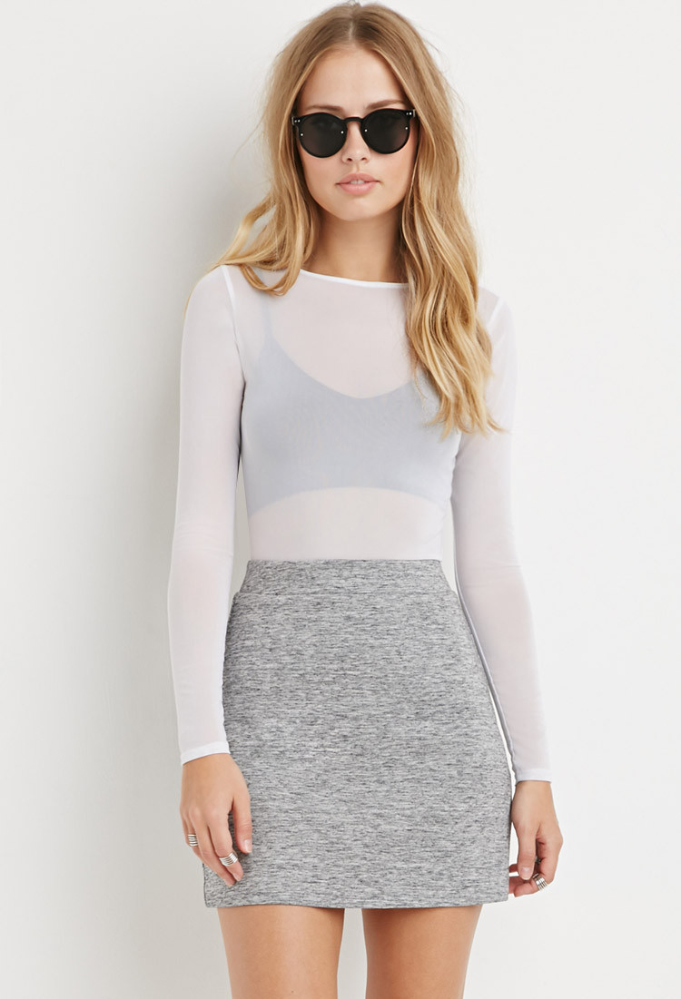 Forever 21 Marled Mini Skirt in Gray | Lyst